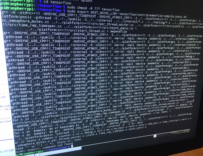 Guide to installing TensorFlow on Raspberry Pi | Details | Hackaday io