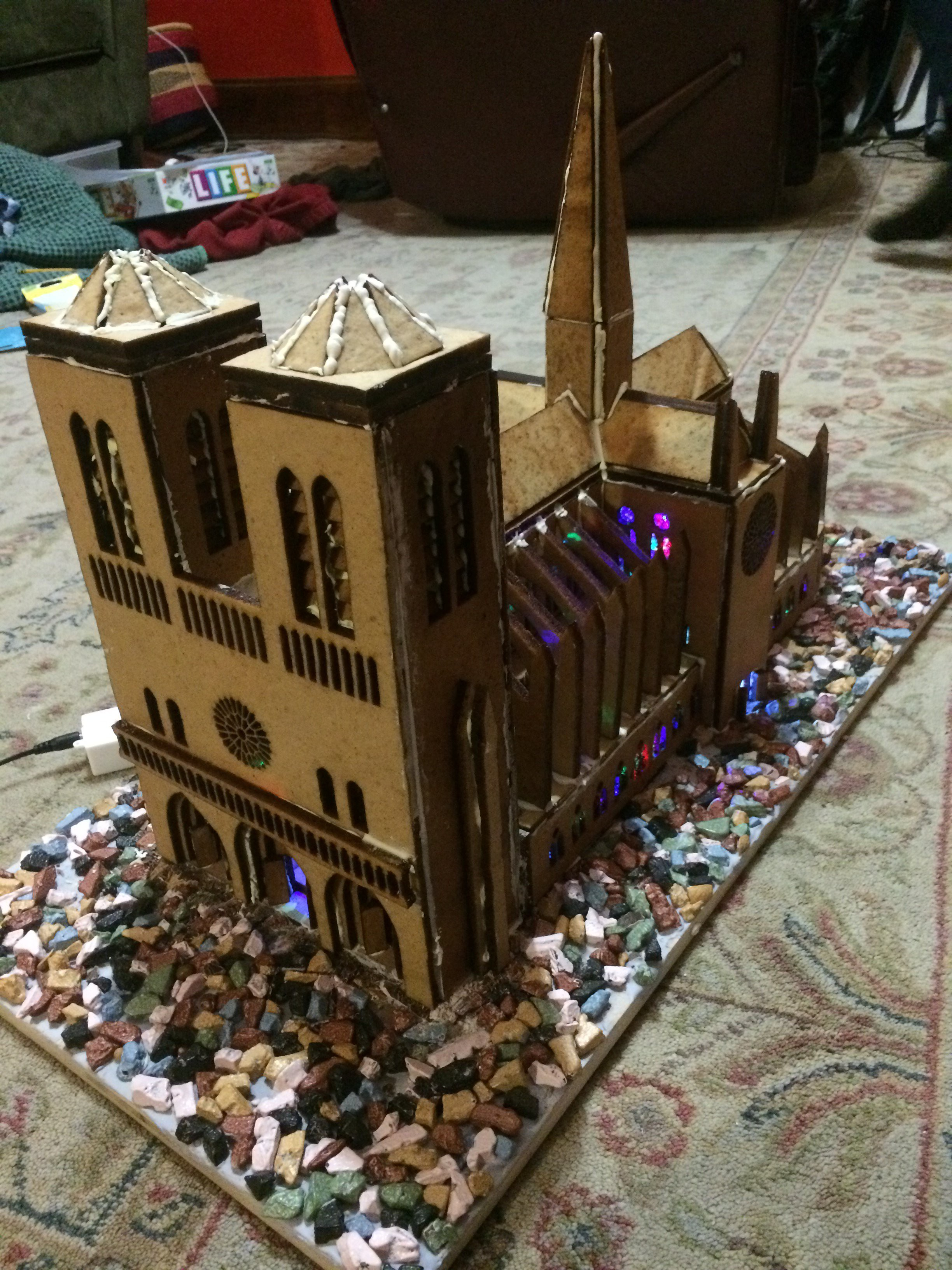 Gallery Laser Cut Gingerbread Notre Dame Cathedral