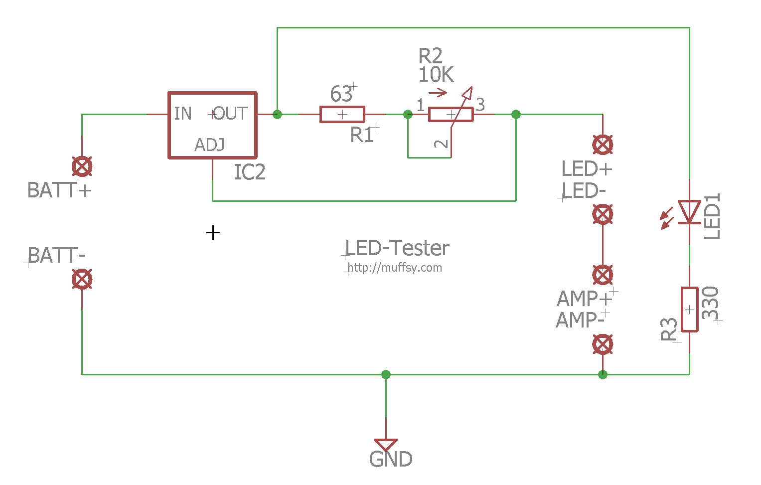 Lm317 Current Regulator Diode Laser Led Driver Circuit Heres A With The New Eagle Files Have Been Replaced This Version