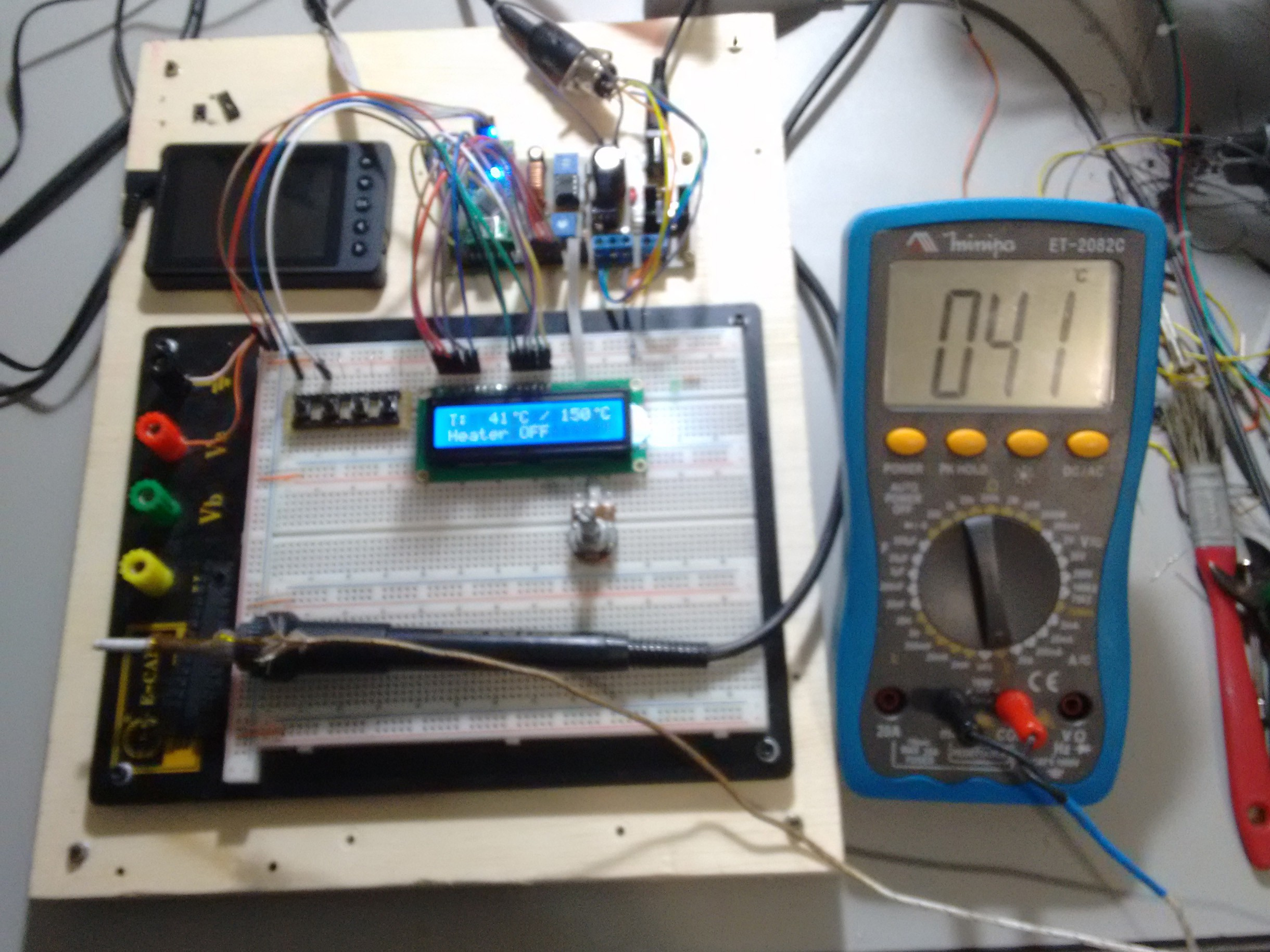 Hakko 907 Based Soldering Station How To Solder Remove A Resistor Soldered Circuit Board As I Had Noticed Before That The Ptc Resistance Was Almost Linear Over Wide Temperature Range Chose Use Function Calculate