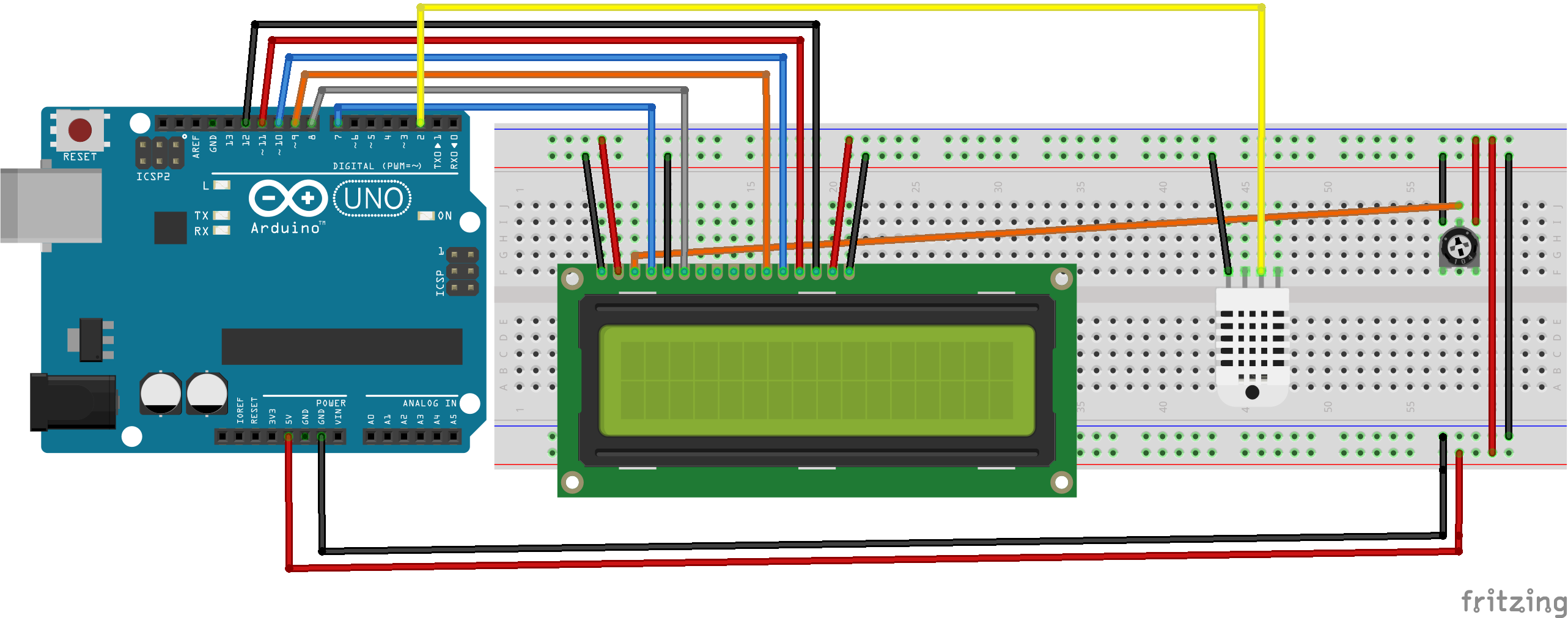 Arduino Using Dht11 Genbays Circuit For Measuring Temperature A Thermistor And Image Result Dht With Lcd