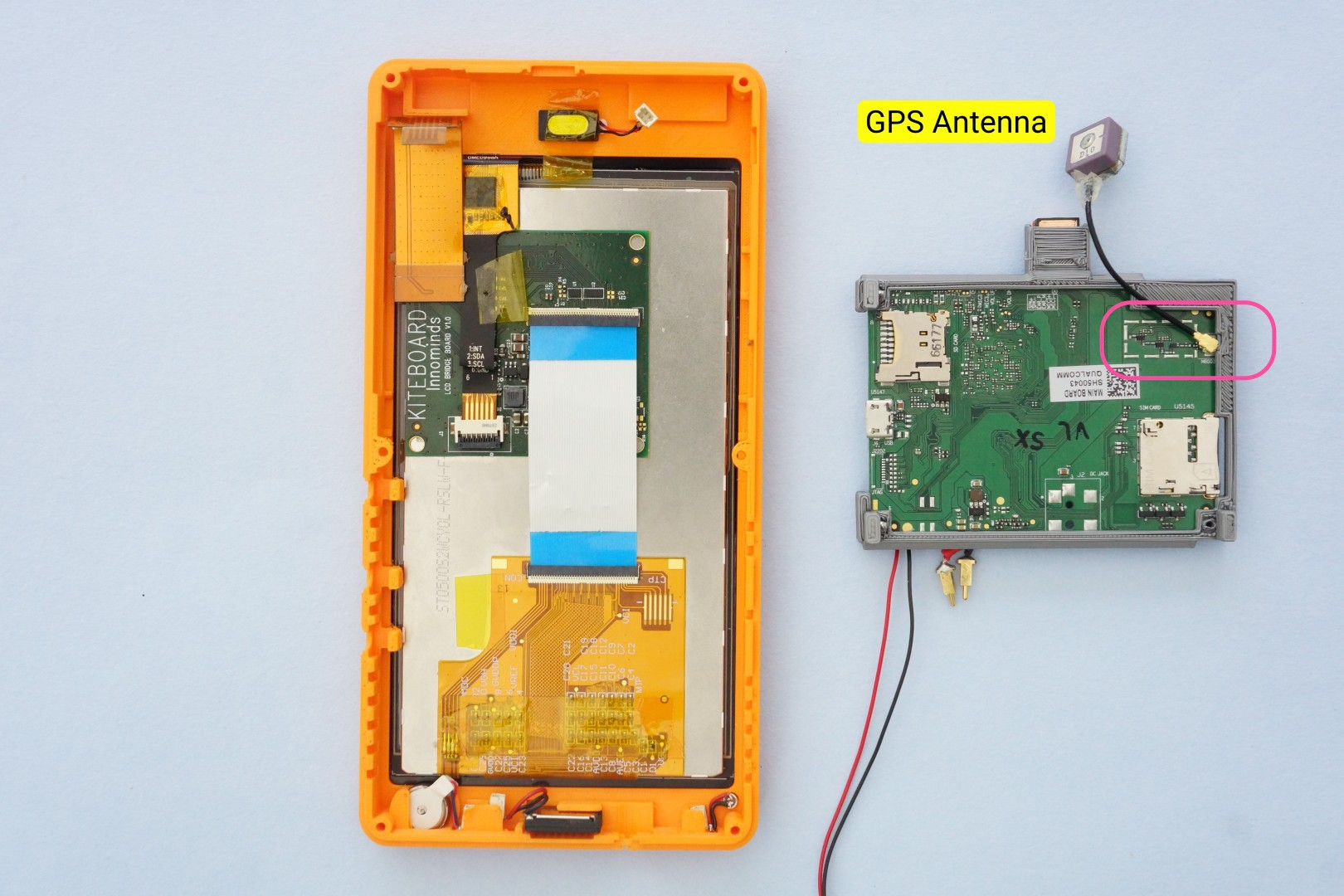 Building Poorna Your First Kitephone Details Maybe Thats Not A Bt Telephone Socket Wiring This Provides Mechanical Stability But Doesnt Impact The Antenna In Any Other Way Gps Is Connected To Ufl Connector On Bottom Side Of