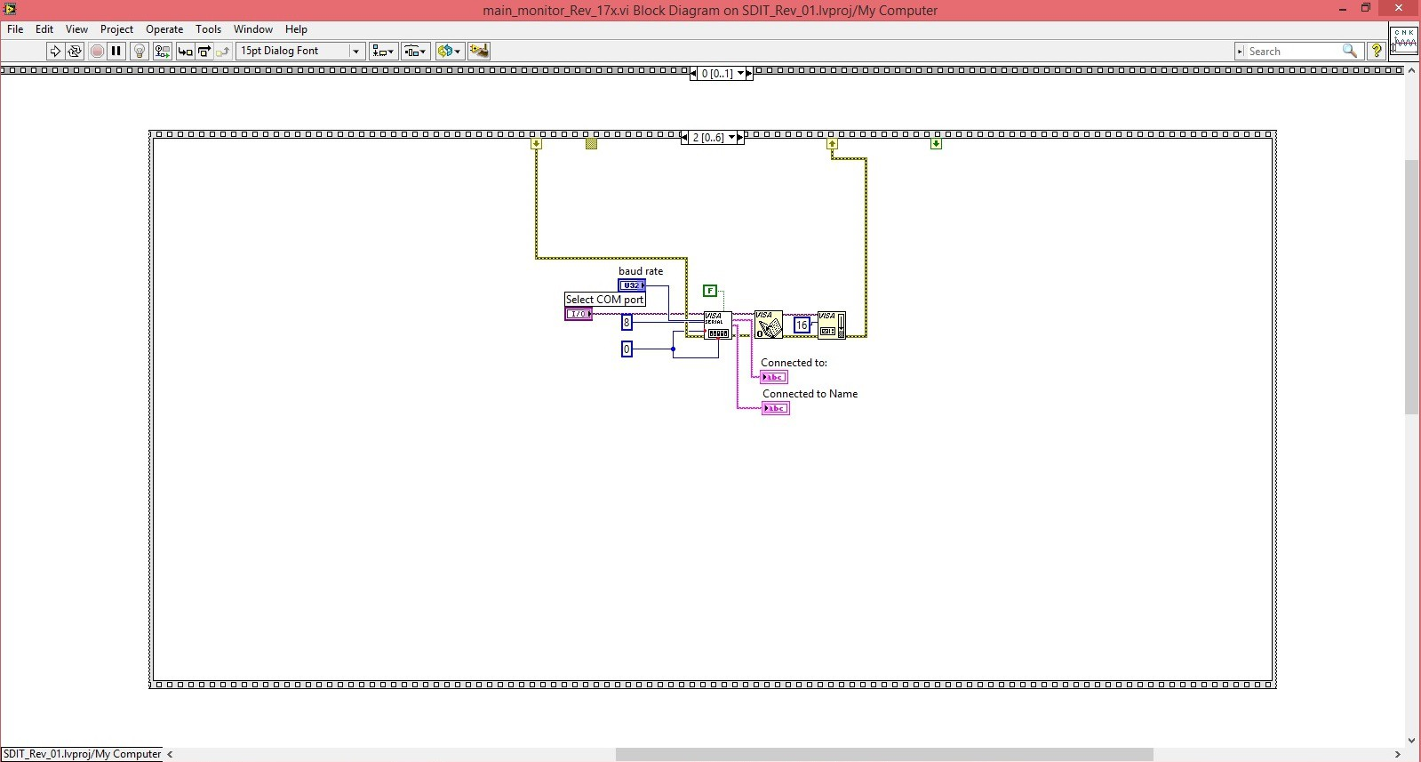 Multimeter Labview Block Diagram Zoom Once The Serial Communication Is Established Program Requests Board Id From Attached