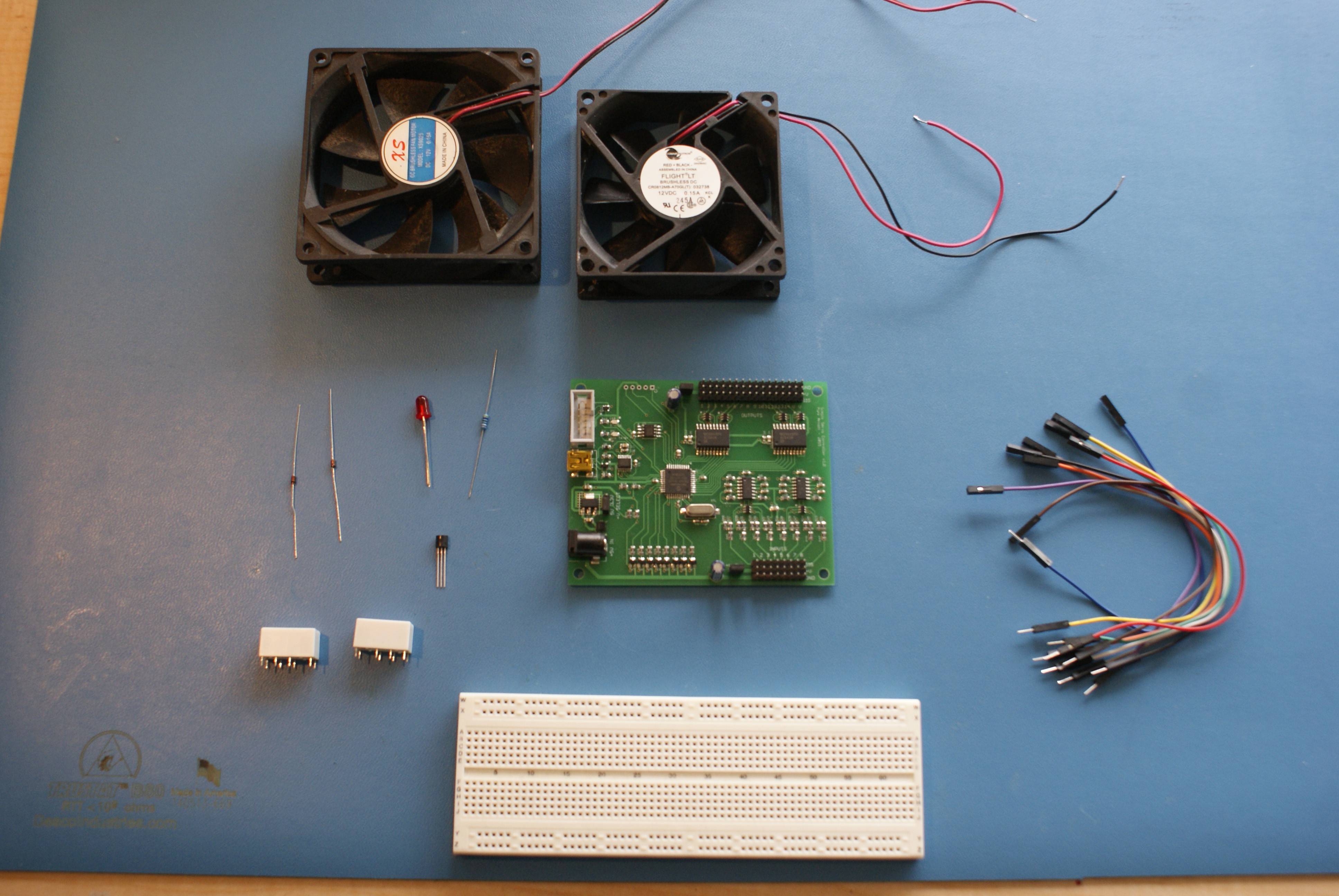 Instructions Temperature Controlled Fans Controled Fan 1 Will Turn On At 46c 2 60c To Have Some Hysteresis Both Off 30c