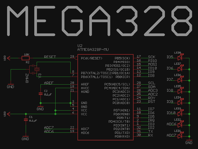 PN532 schematic and PCB layout completed  ATMEGA328, LED bar