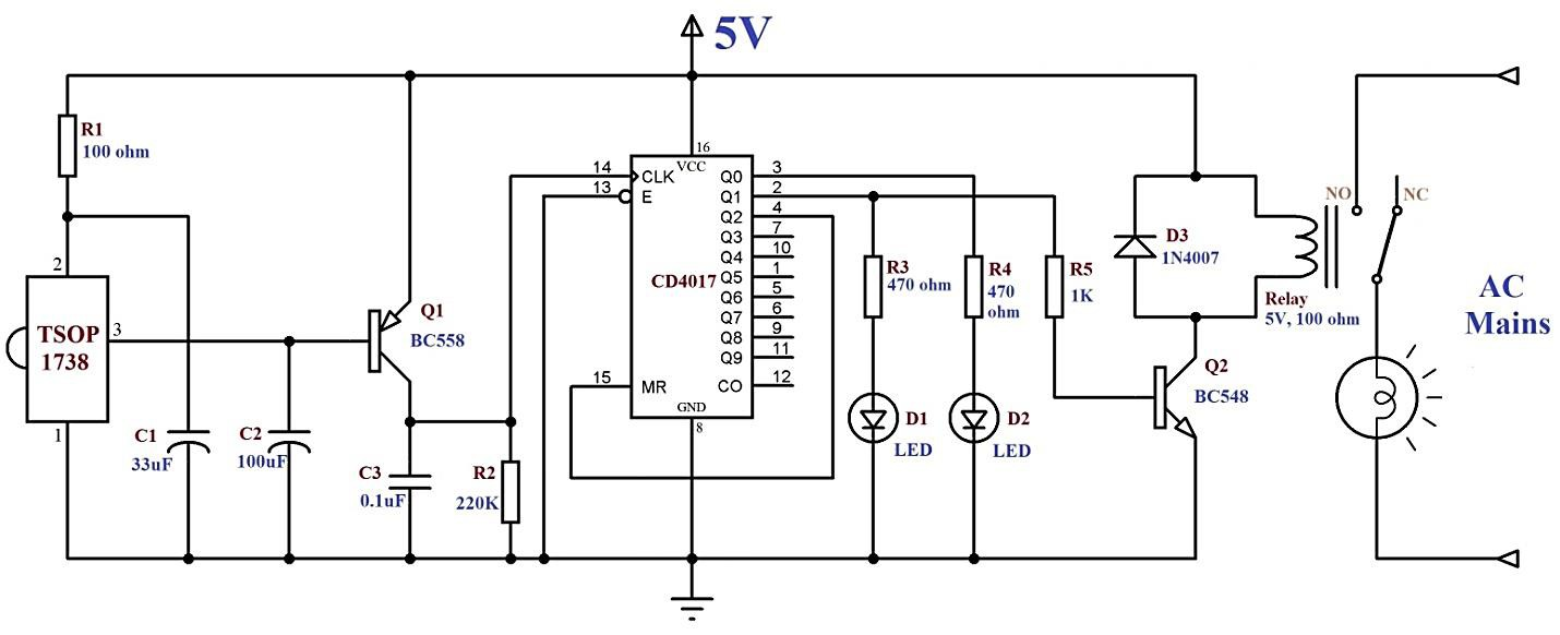 infrared based wireless switch details hackaday iofigure 1 circuit diagram of infrared based wireless switch