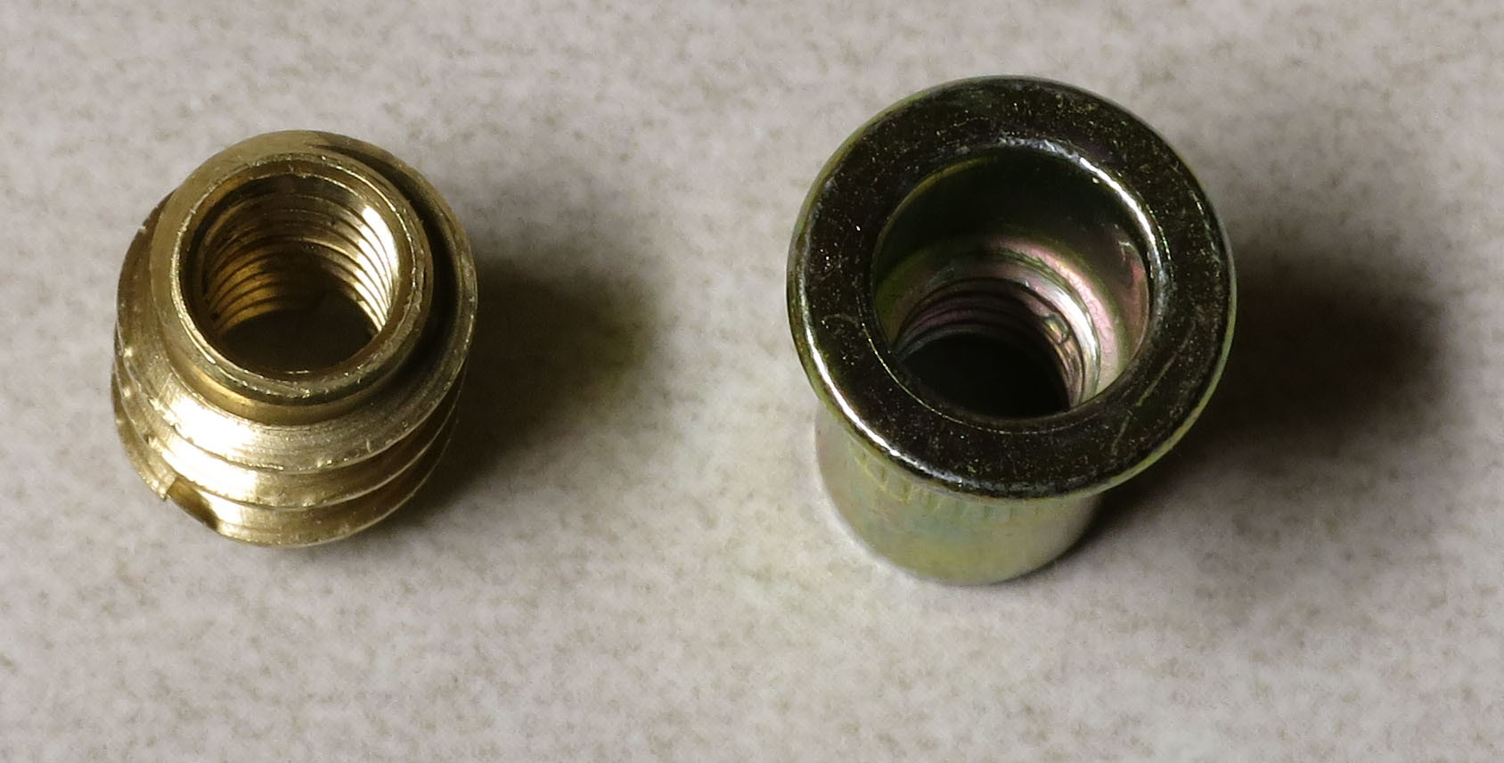 Instructions Affordable Reflectance Transformation Imaging Dome Thread Some Help With A Circuit I39m Working Onhopefully You Now Want To Put 20 Threaded Inserts Into The Top Of Dowels There Are Two Varieties These Screw In Left And Press Fit Right