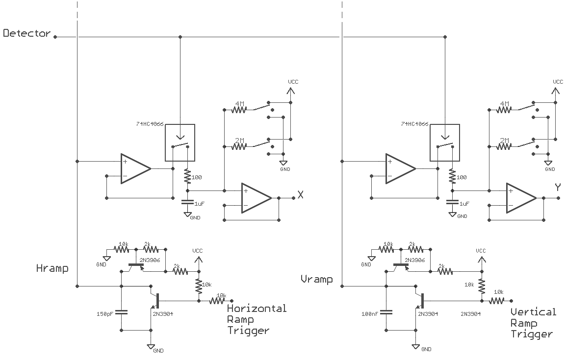 Project Rasterphonic Glove Lm339 This Circuit Is A Basic Two Contact Touch Switch Sensor The Row Of Twenty Sp3t Switches Four Per Finger Axis Audio Control Below