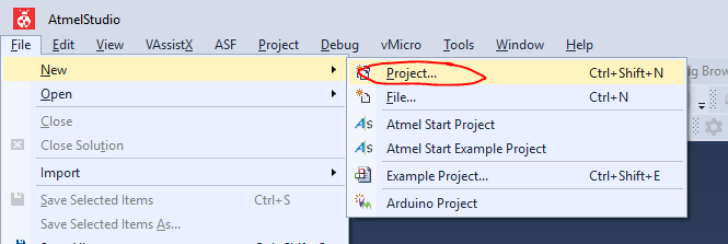 Open a Project in Atmel Studio, Compile and Upload Code