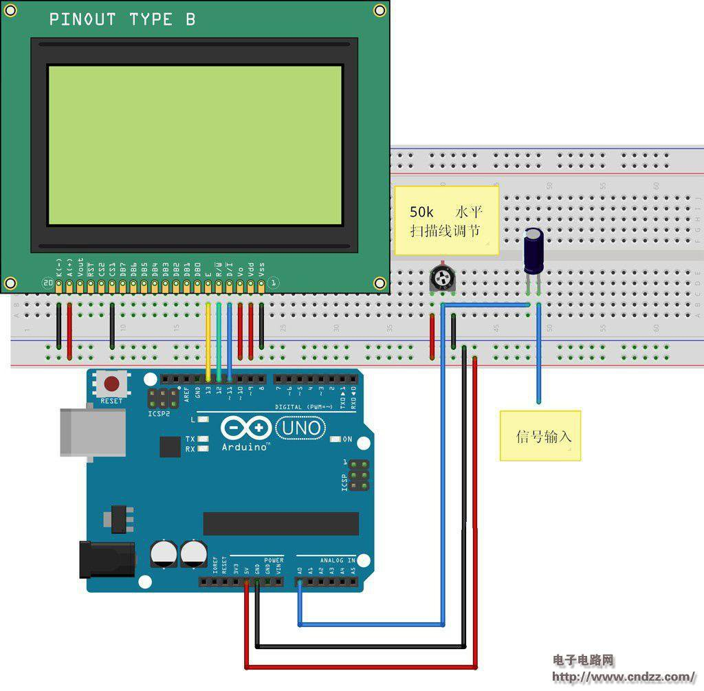 Make A Digital Oscilloscope Via Arduino Details