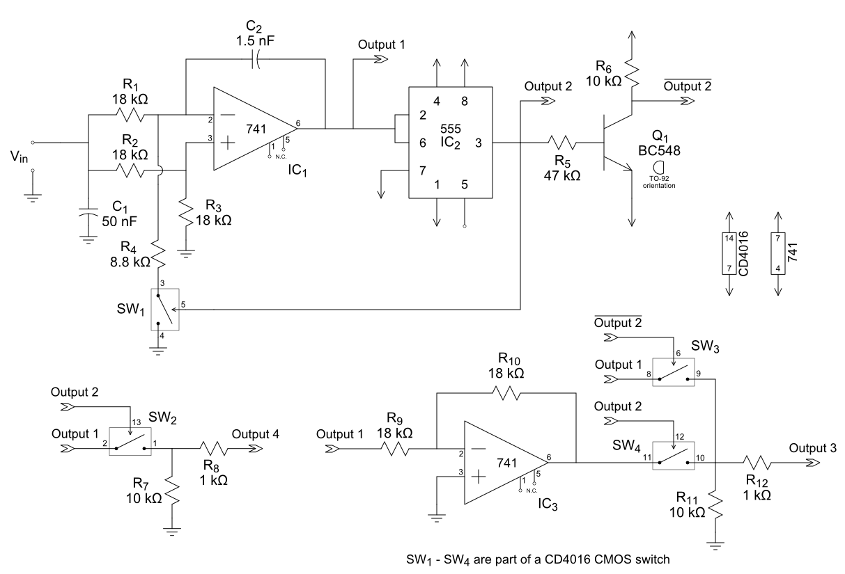 Vco Details Trigger Circuit Using Ne 555 Electronic Circuits And Diagram The Schematic Provided Therein Is Not Ideal For Two Reasons Its Drawn Poorly It Contains Errors Ive Fixed Both Those Problems In Image Below