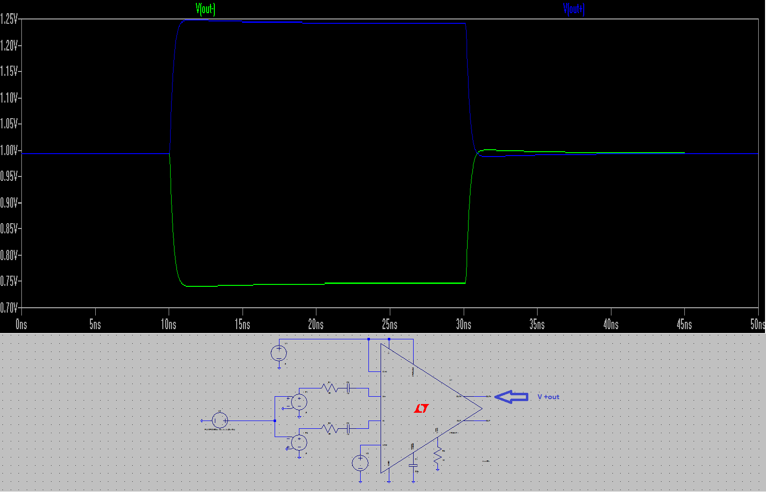 Need Some Helpsimulating The Ad8021 Op Amp W Ltspice Details And Here Is New Schematic Followed By A Plot With V In Do You Think I May Be Over Driving Circuit Current Wise Only Usb Power Source