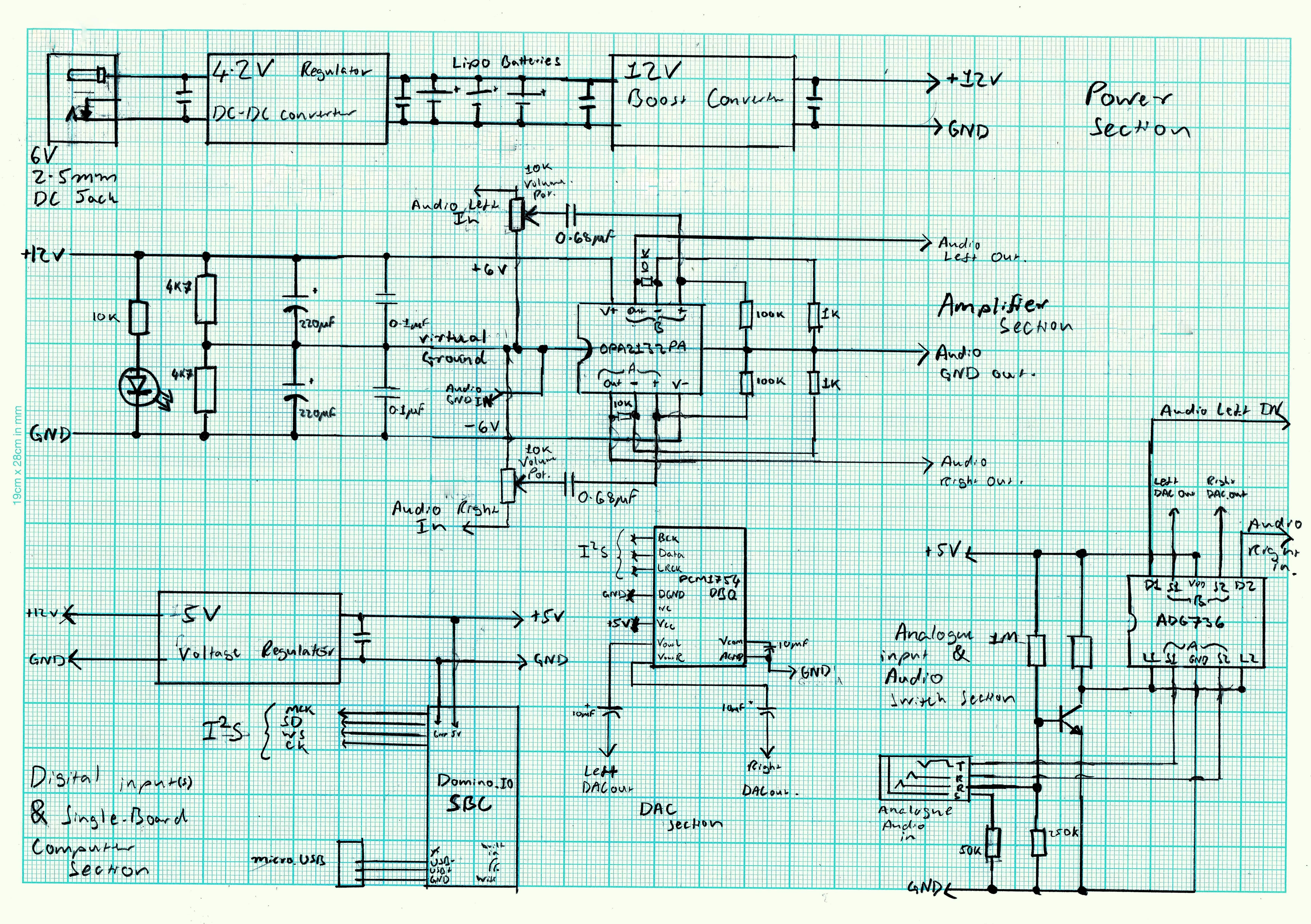 Portable Wi Fi Dac Amplifier Block Diagram Of The Headphone Ip Core I Drew Up Circuit Schematic Using Layout Ics Am Going To Use Then Used This Sketch As A Reference Make On Kicad