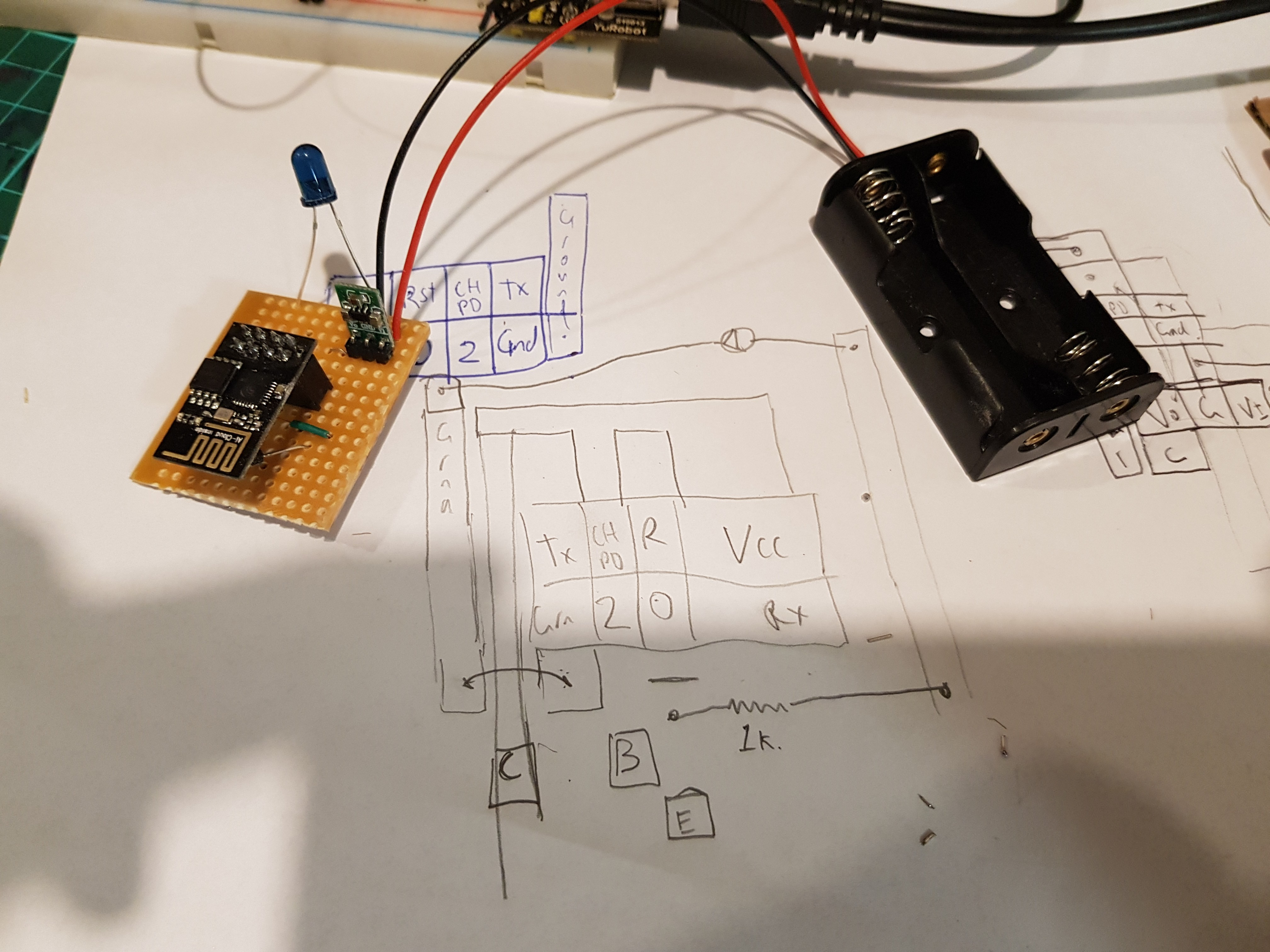 Esp8266 Mqtt Infrared Aircon Control Build A Transistor Circuit Board For Controlling Air Conditioner This Version Uses Switching To Drive The Led But Cant Use Esp Sleep Function Previous One As It Doesnt Expose Right Pins