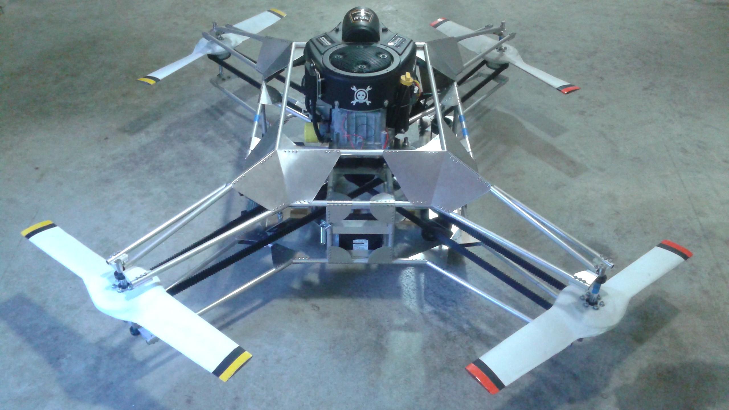 Goliath A Gas Powered Quadcopter Details Hackaday Io