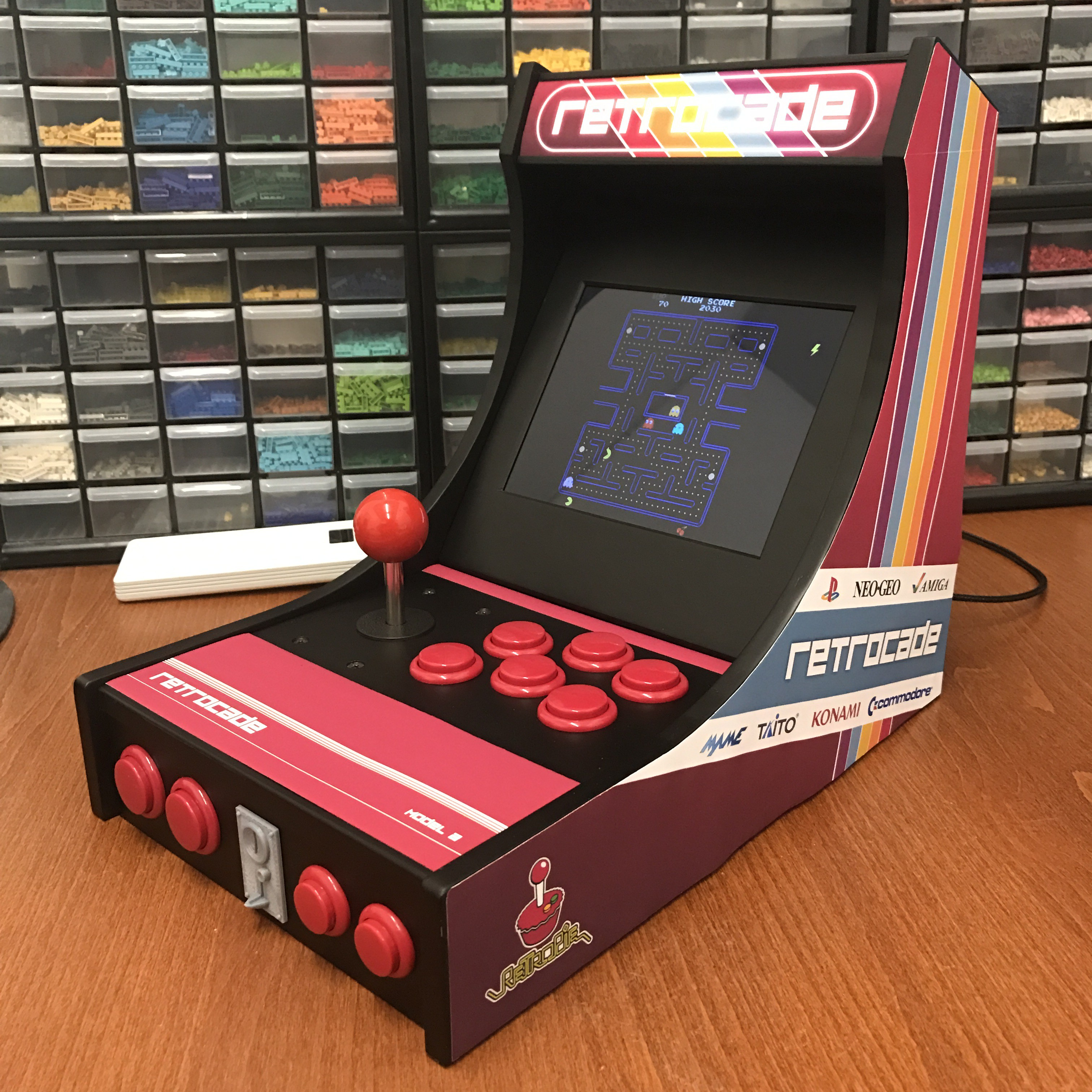 Desktop Arcade Machine : 3D Printed + RetroPie | Hackaday.io