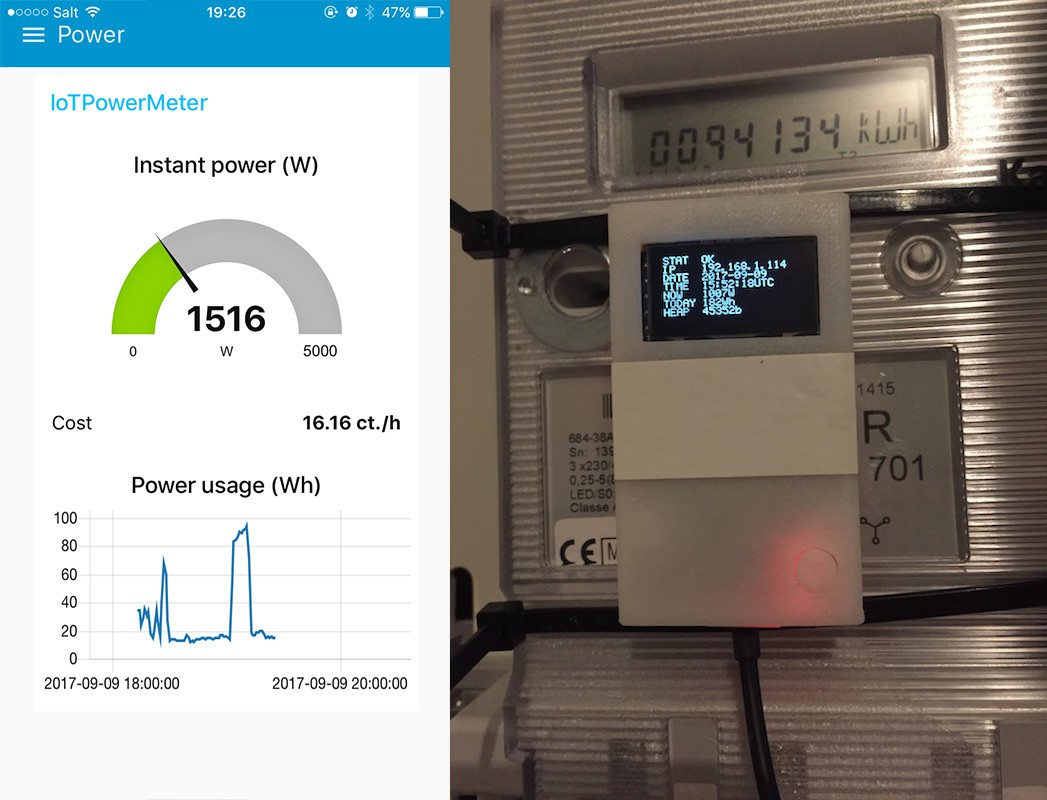 Internet Of Things Power Meter Electronic Utility Project I Decided To Refactor This As It Was Difficult Maintain The Way Made Pleasantly Surprised Actually Exactly What Had