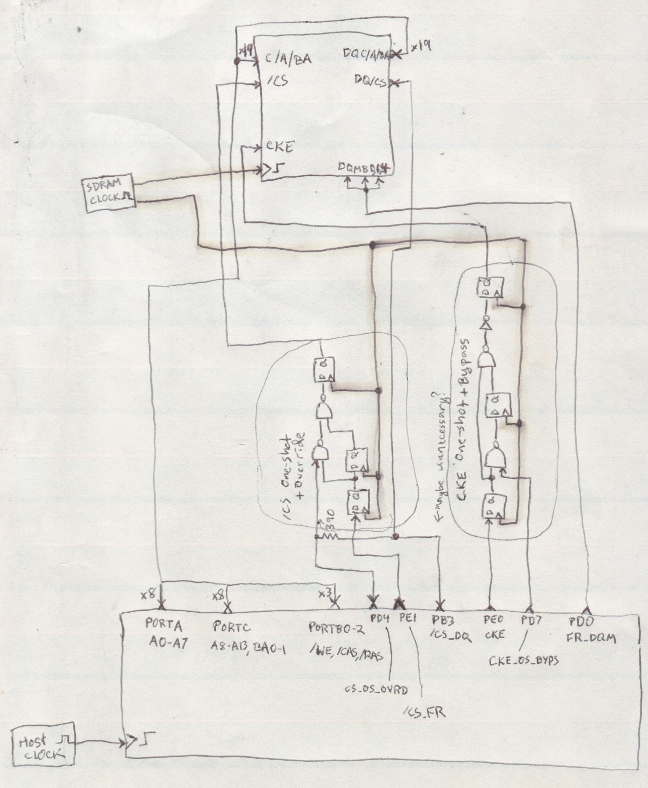 Project Sdramthingzero 133ms S 32 Bit Logic Analyzer D Latch Diagram Of Those Latches To Function But There Are Some Extras Thrown In For The Purpose More Predictable Gate Delays Eg Cke One Shot Circuit