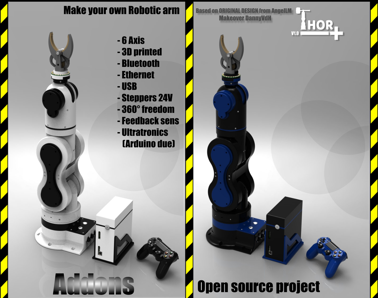 Building and improving the Thor+ robot arm | Hackaday io