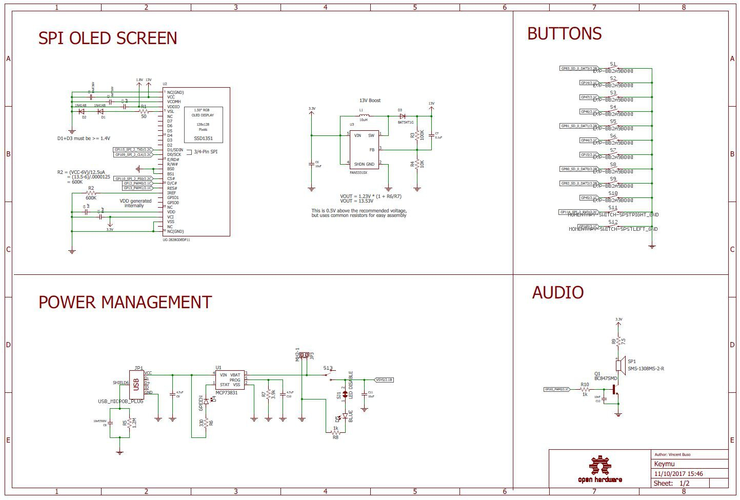 BOM & Eagle Schematics | Details | Hackaday.io