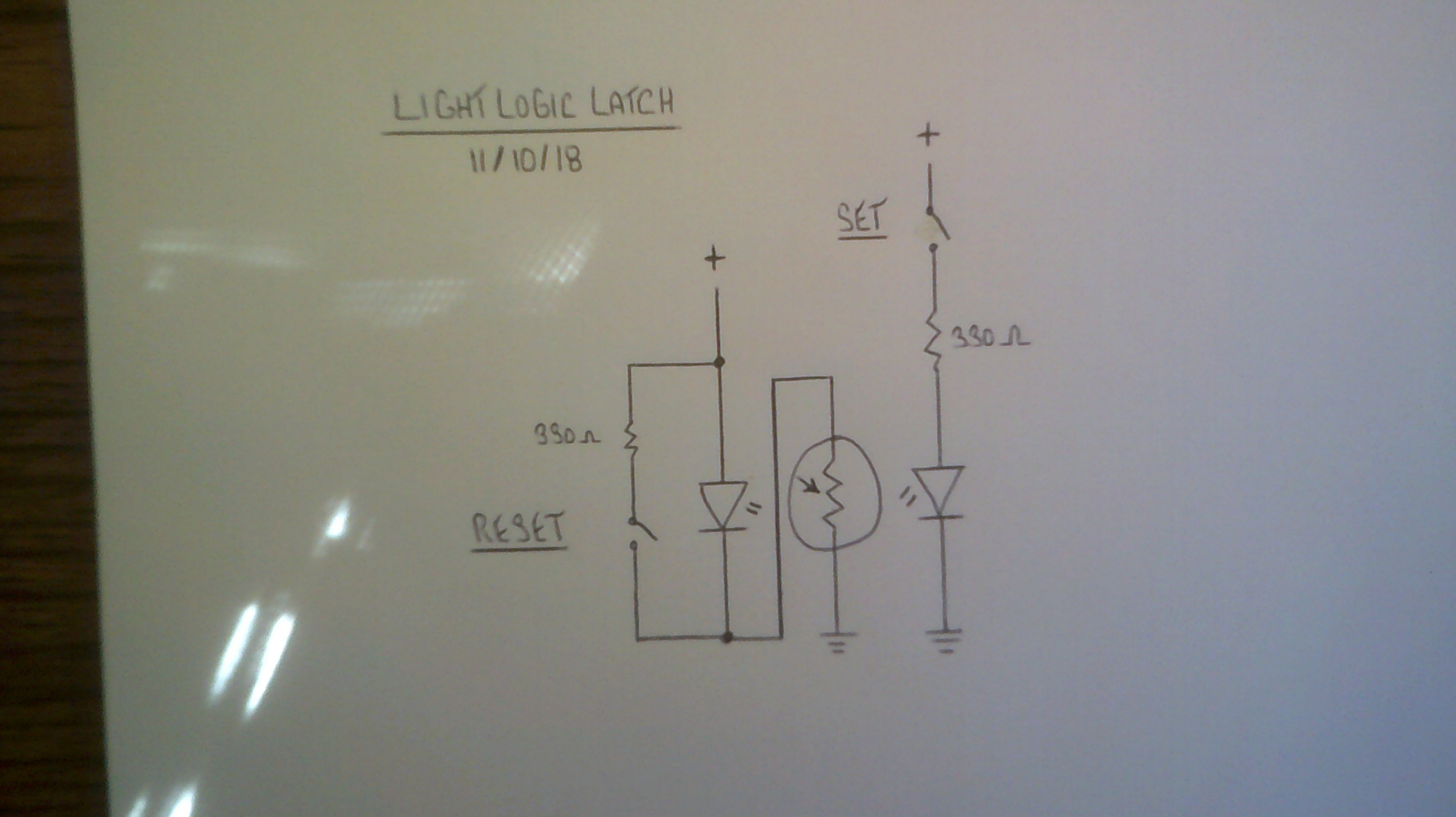 Light Logic Circuit Digram Connecting Seven Segments Led And Ldr Here Is The First Video Of Latch In Action