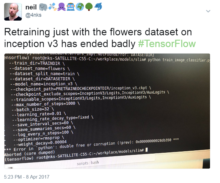Retraining TensorFlow Inception v3 using TensorFlow-Slim (Part 1