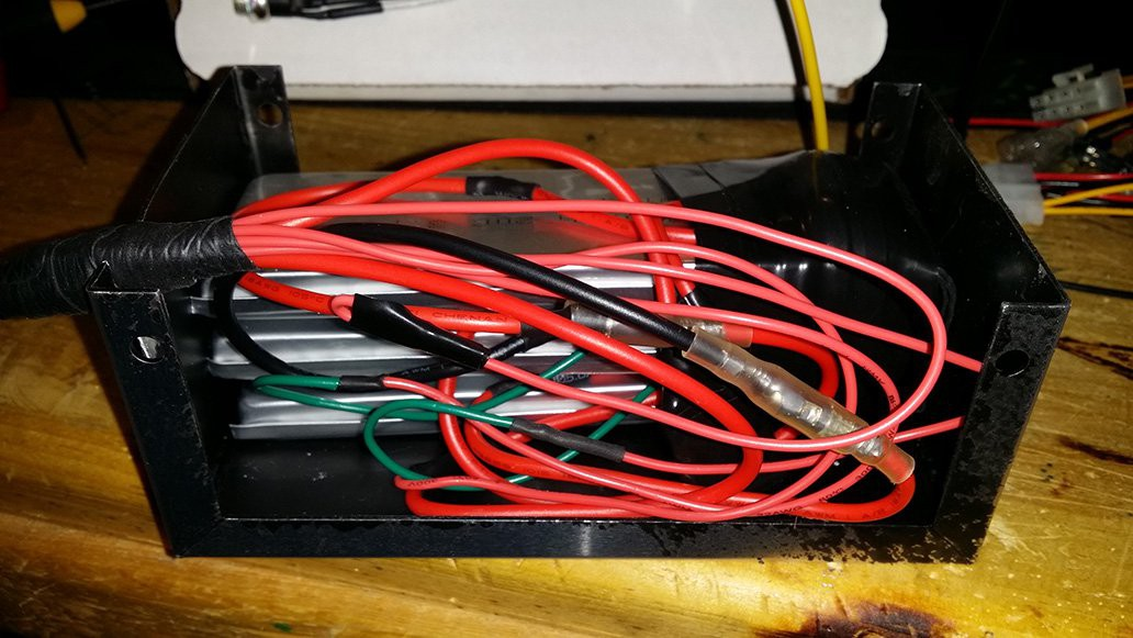 Raspi car computer hackaday battery pack showing the mess of wire i created along with the three single cell batteries greentooth Choice Image