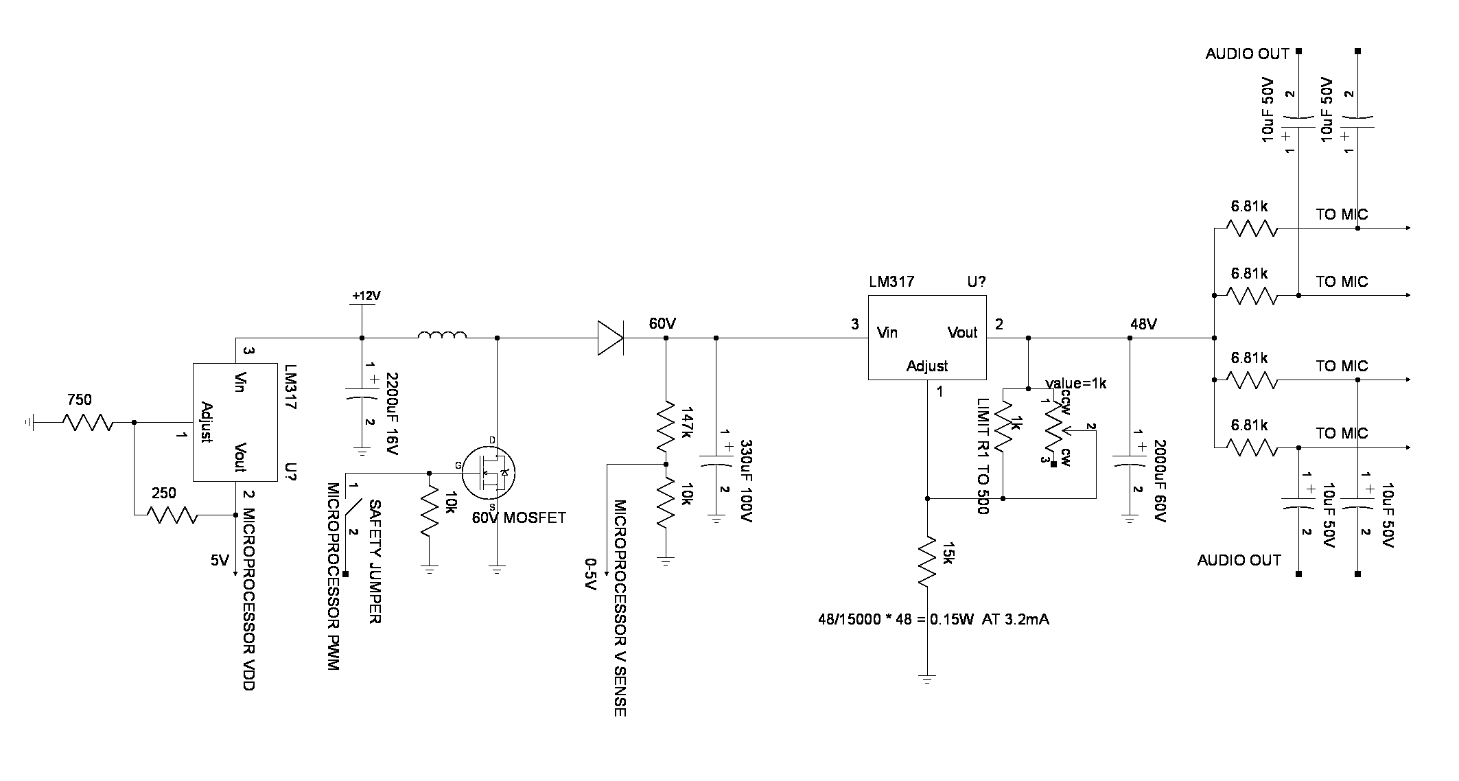 Ultimate Preamp Simple Singletransistor Circuit Provides Extremely Stable Beat The New Boost Converter Used A Linear Regulator To Drop An Unstable 50 60v 48v