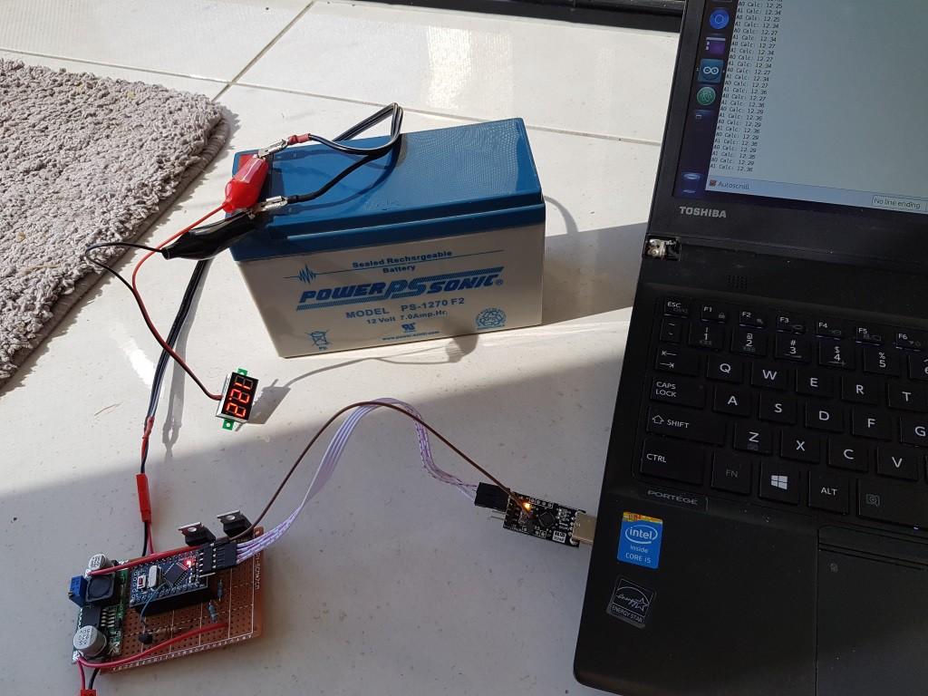 Minimal arduino lead acid solar charger hackaday