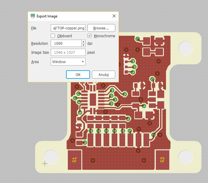 Quick tutorial on texturing PCBs pushed from EAGLE to