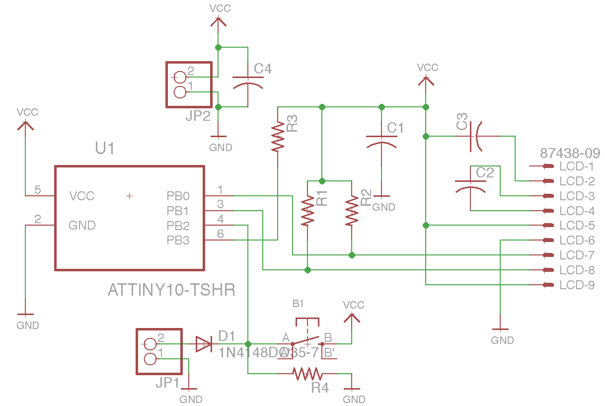 Ultimate Application Of Attiny10 Freq Counter Dvm Just In One Frequency Schematic Here Is The Still Super Simple And Added Switch For Pb2 Indeed Working As 1 Function Selector 2 Input