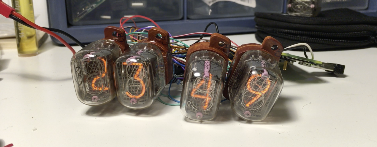 Nixie Clock with Rapsberry Pi Zero
