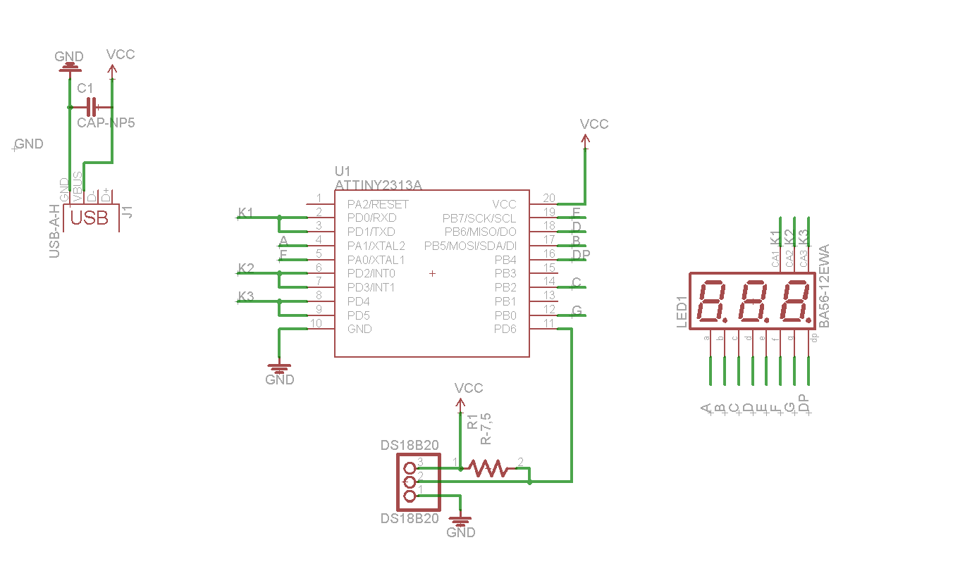Digital Thermometer Schematics Gallery View Full Size