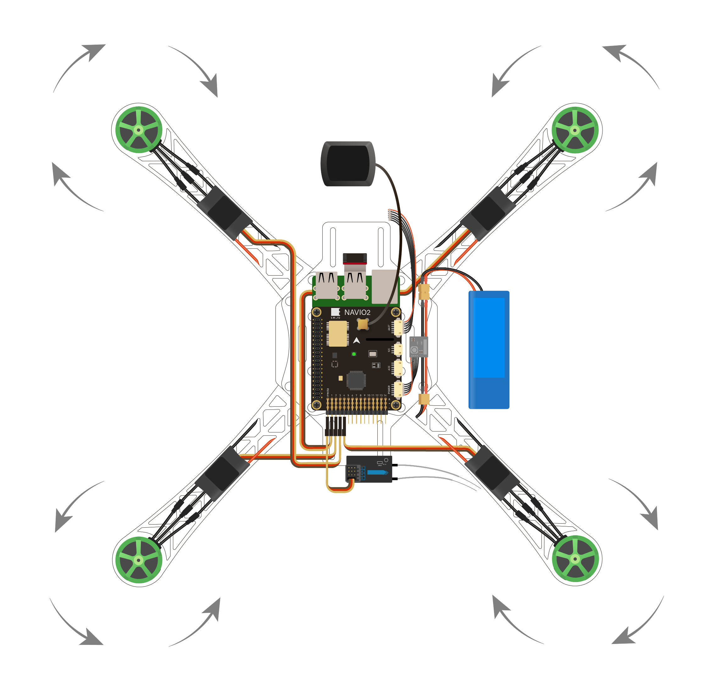 Instructions   My first copter build with RPi2 and Emlid