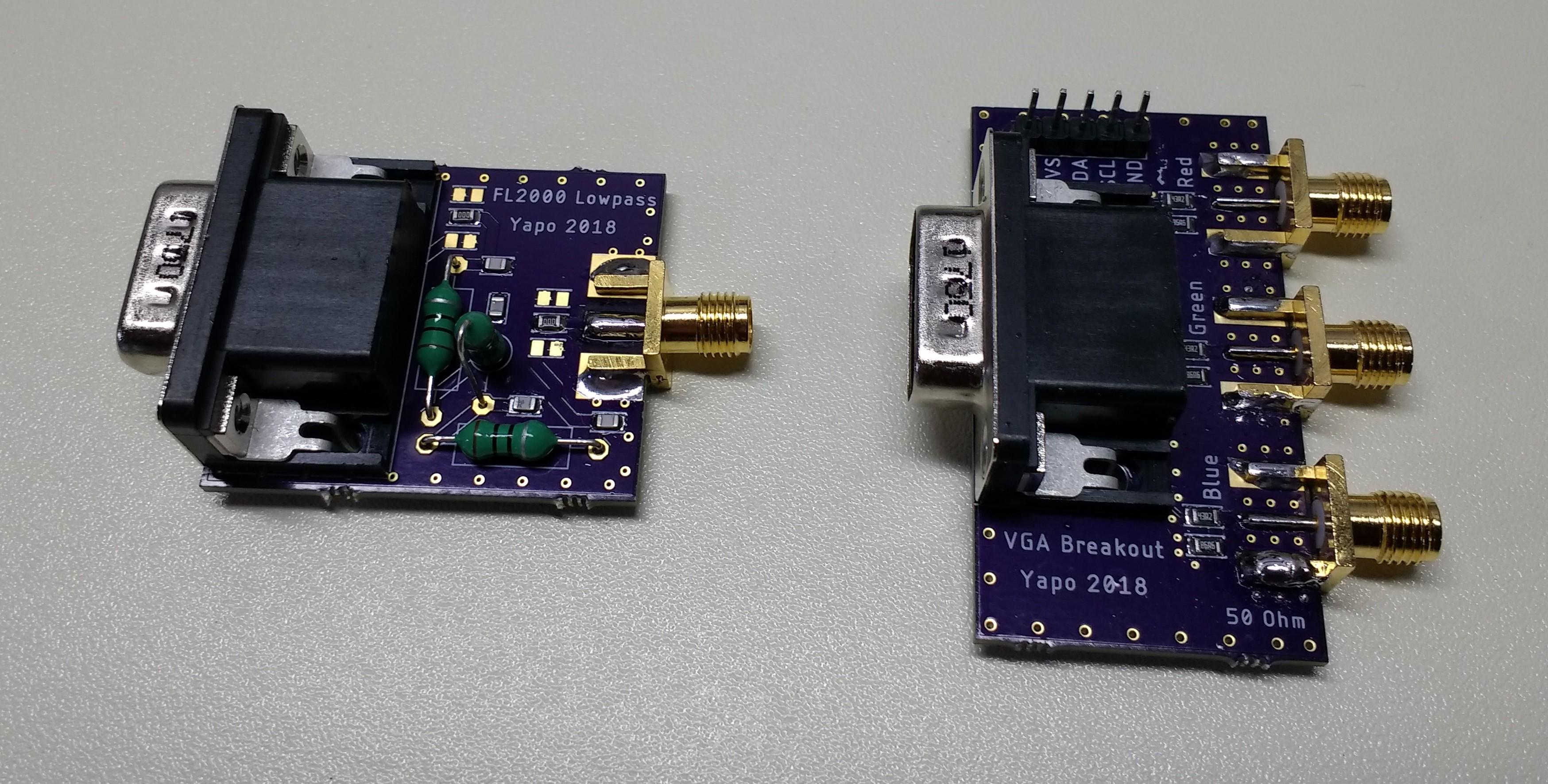 PCBs assembled
