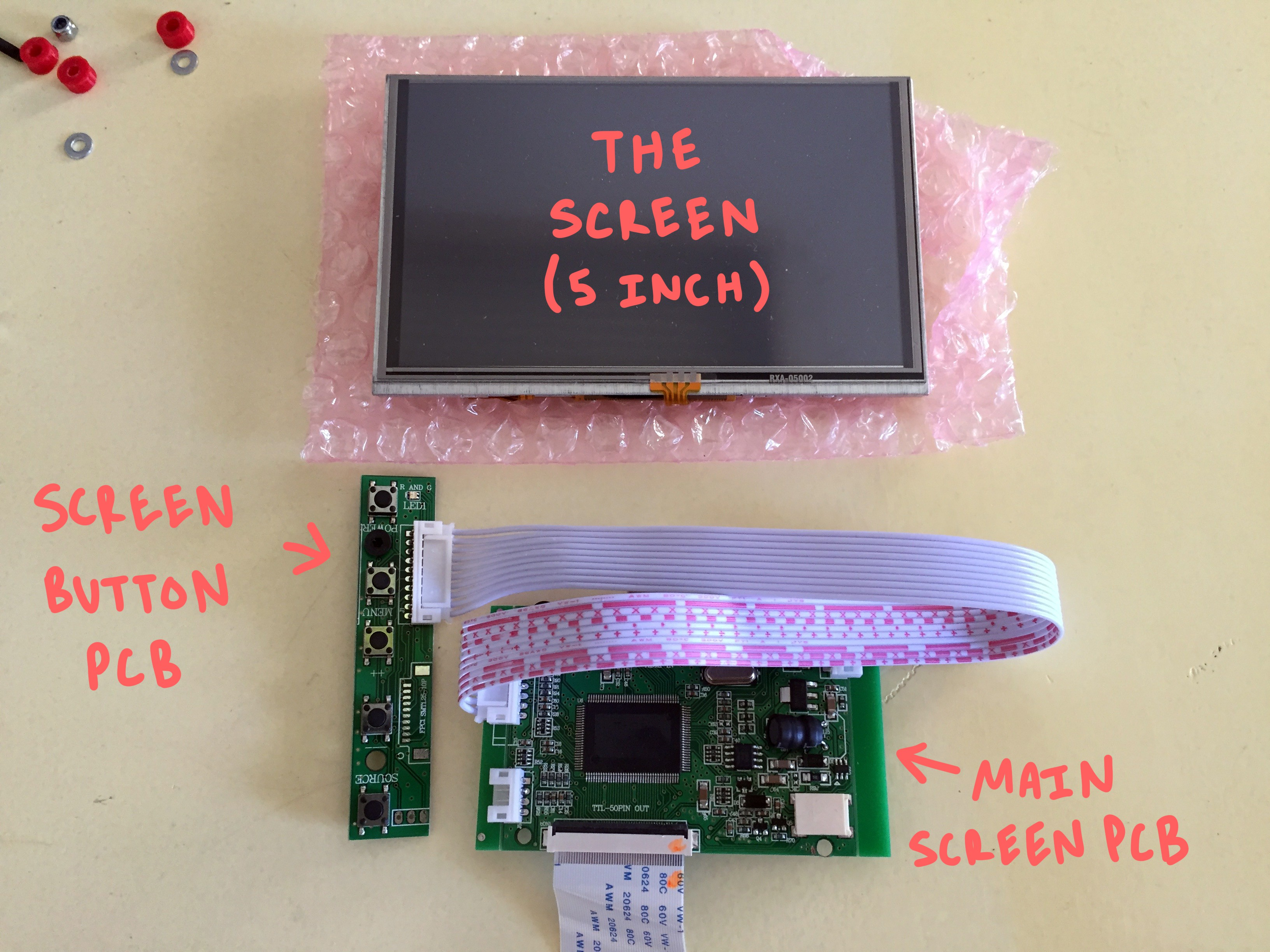 Project She Bon Wiringpi Serial Lcd The Other Helpful Thing To Do As Soon You Unpackaged Your Screen Is Use Some Double Sided Silicone Tape Adhere Thin And Fragile Touch