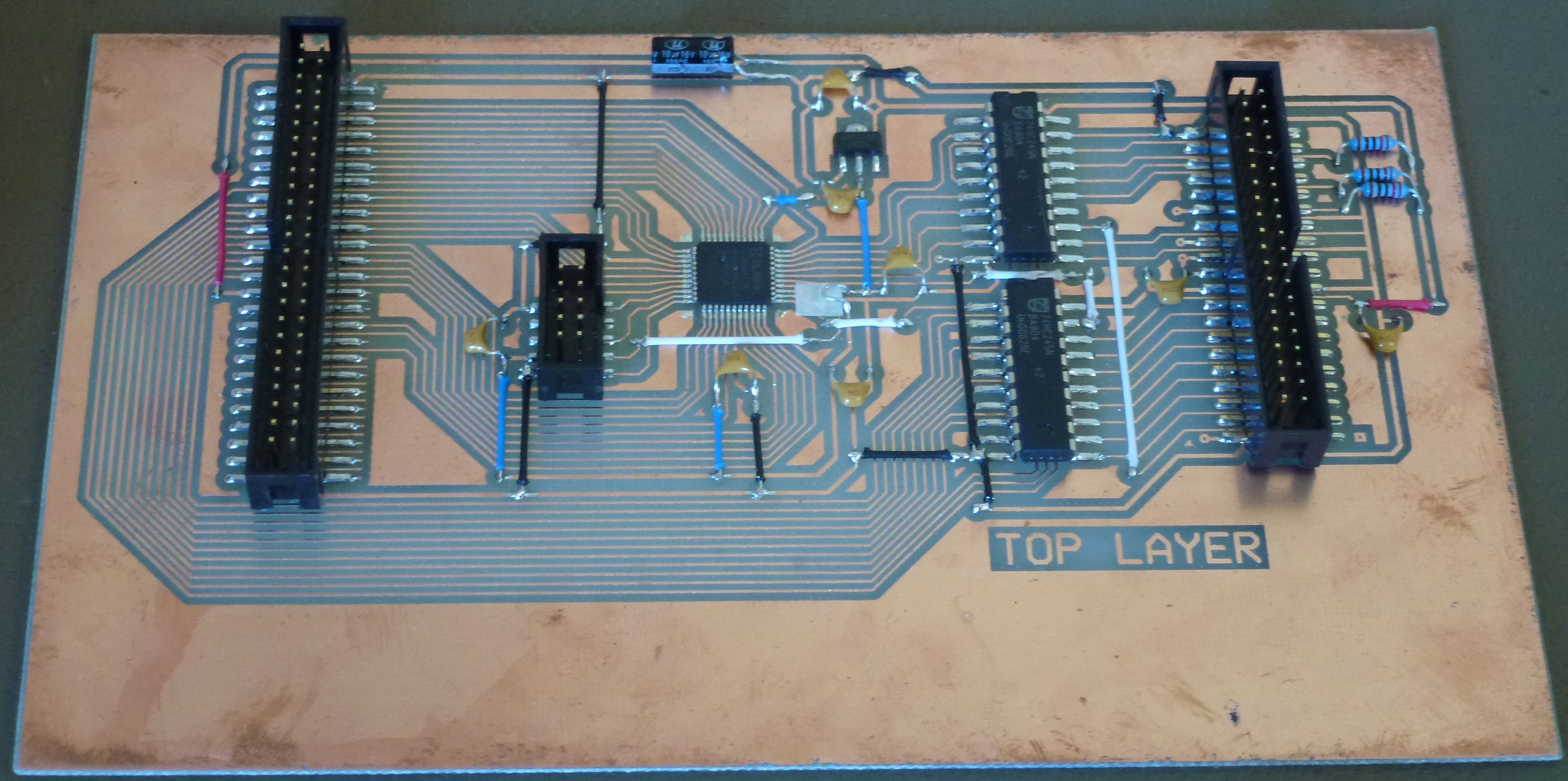 Etch Your Own Circuit Boards In Kitchen Hackaday Diy Double Sided Pcb Board Etching Another Example