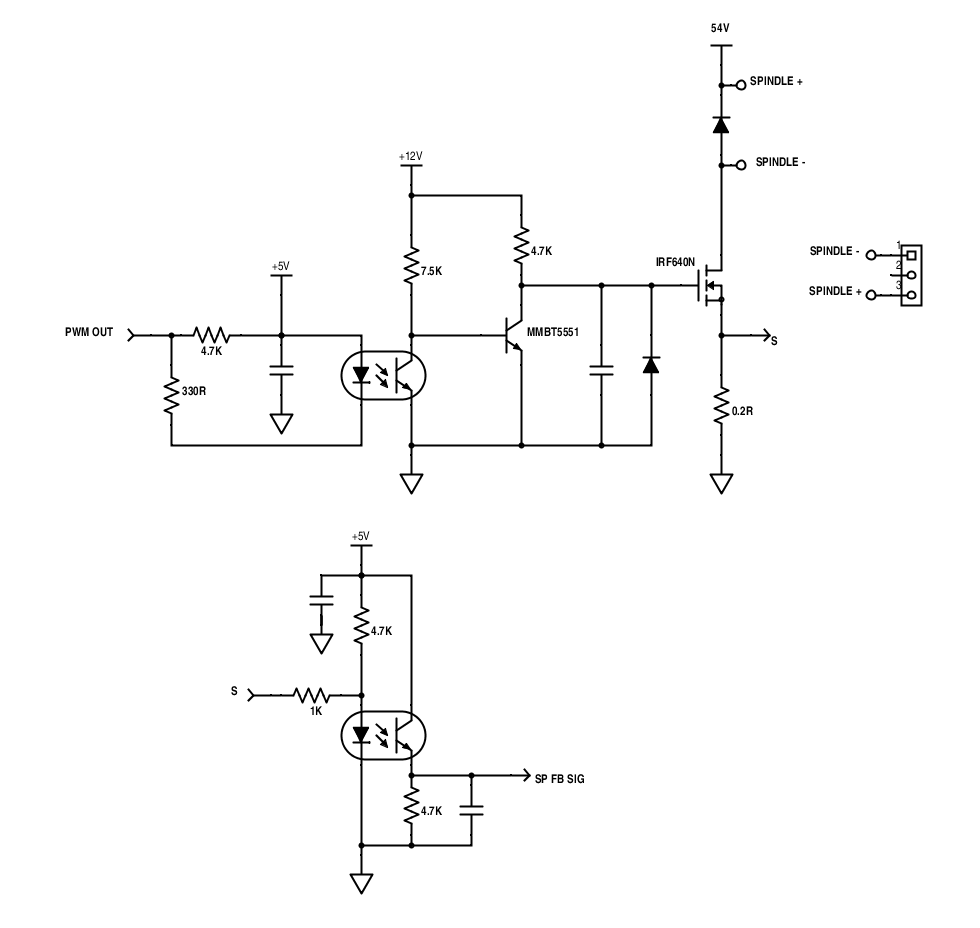 schematic pwm spindle