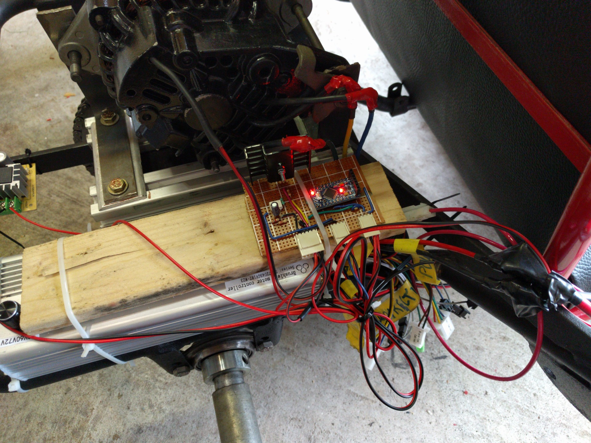 E Kart The Electric Go Details Wiring Schematic Ac Car Conversion Ev Electrical Diagrams Testing Throttle Control And Field Coil Circuit Here We Are Also Interrupt Driven Os On Arduino Pro Using Output Compare For