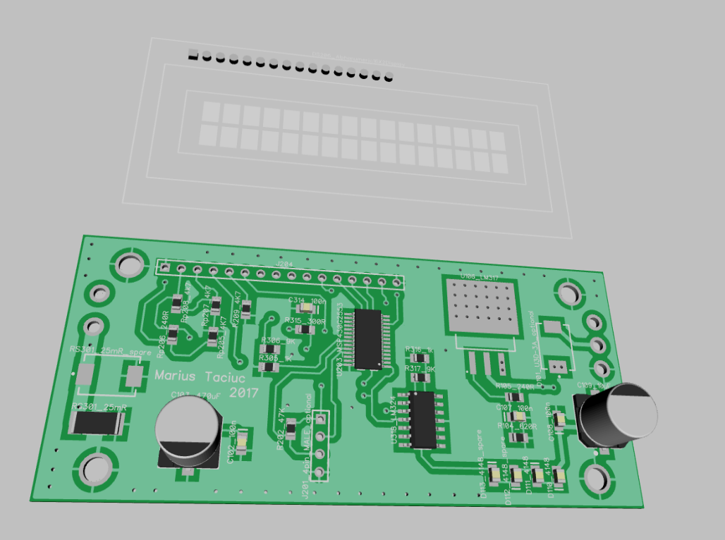 Build Your Own Panel Meter Icl7106 Digital Voltmeter Circuit This Is Actually The Second Iteration Of Pcb At First I Used One Pcbs That Had From Scorpion 30 Project Trimmed Extremities