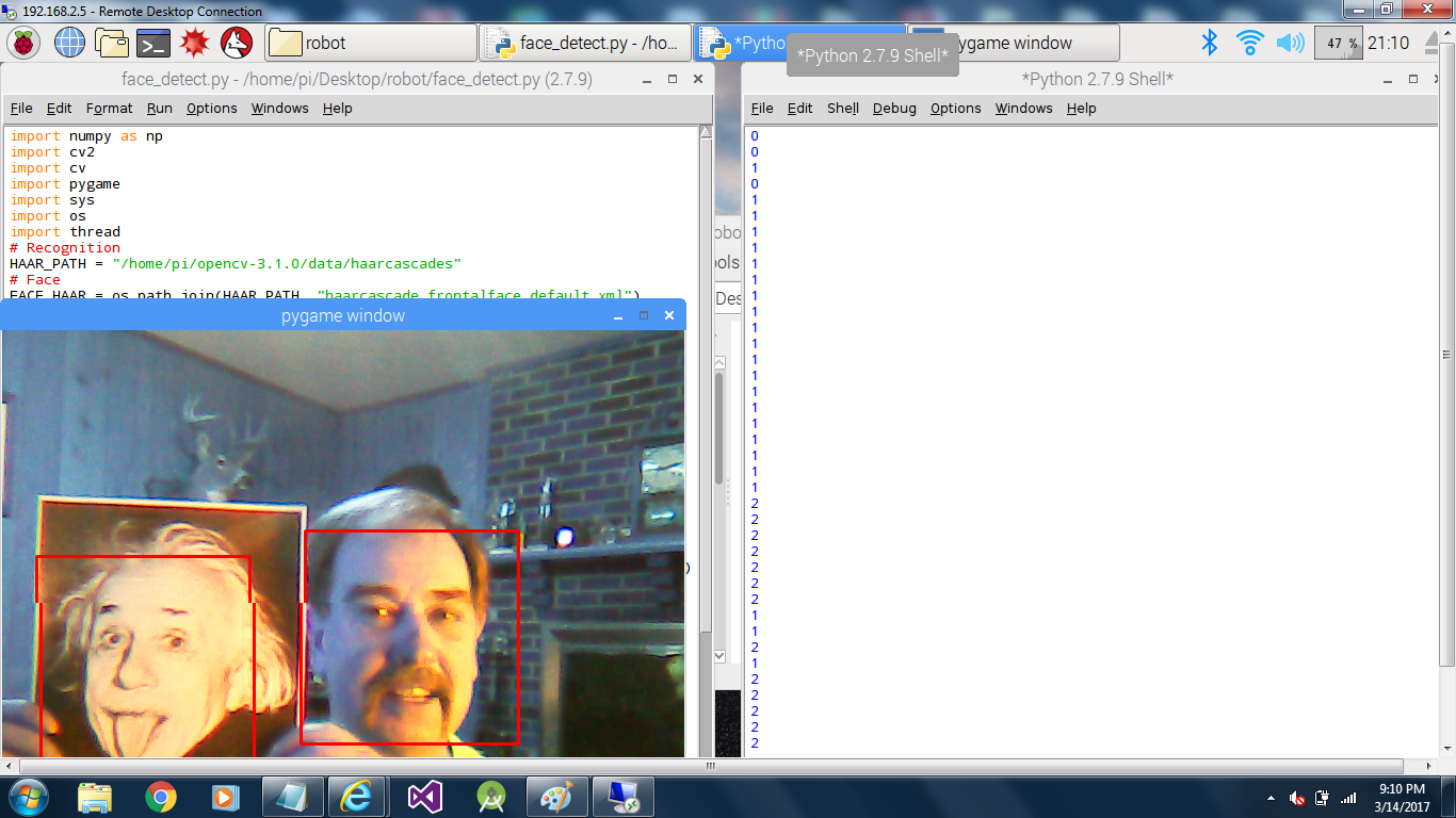 First step--load the first tool OpenCV: | Details | Hackaday io