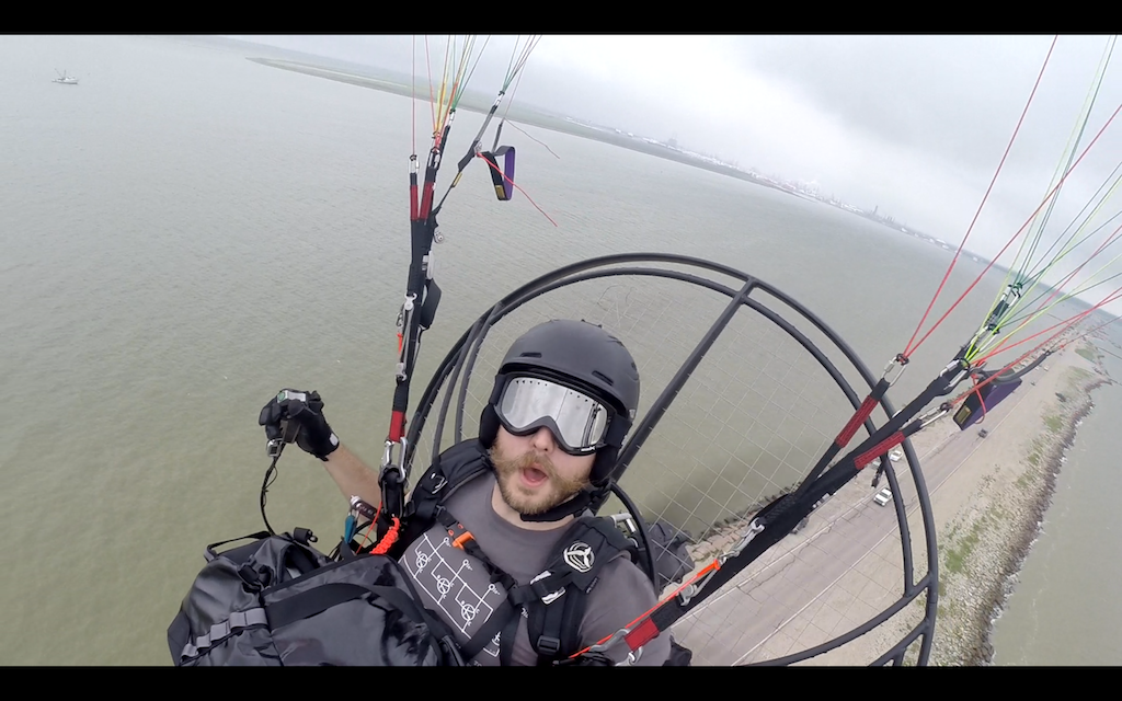 Flying my powered paraglider!