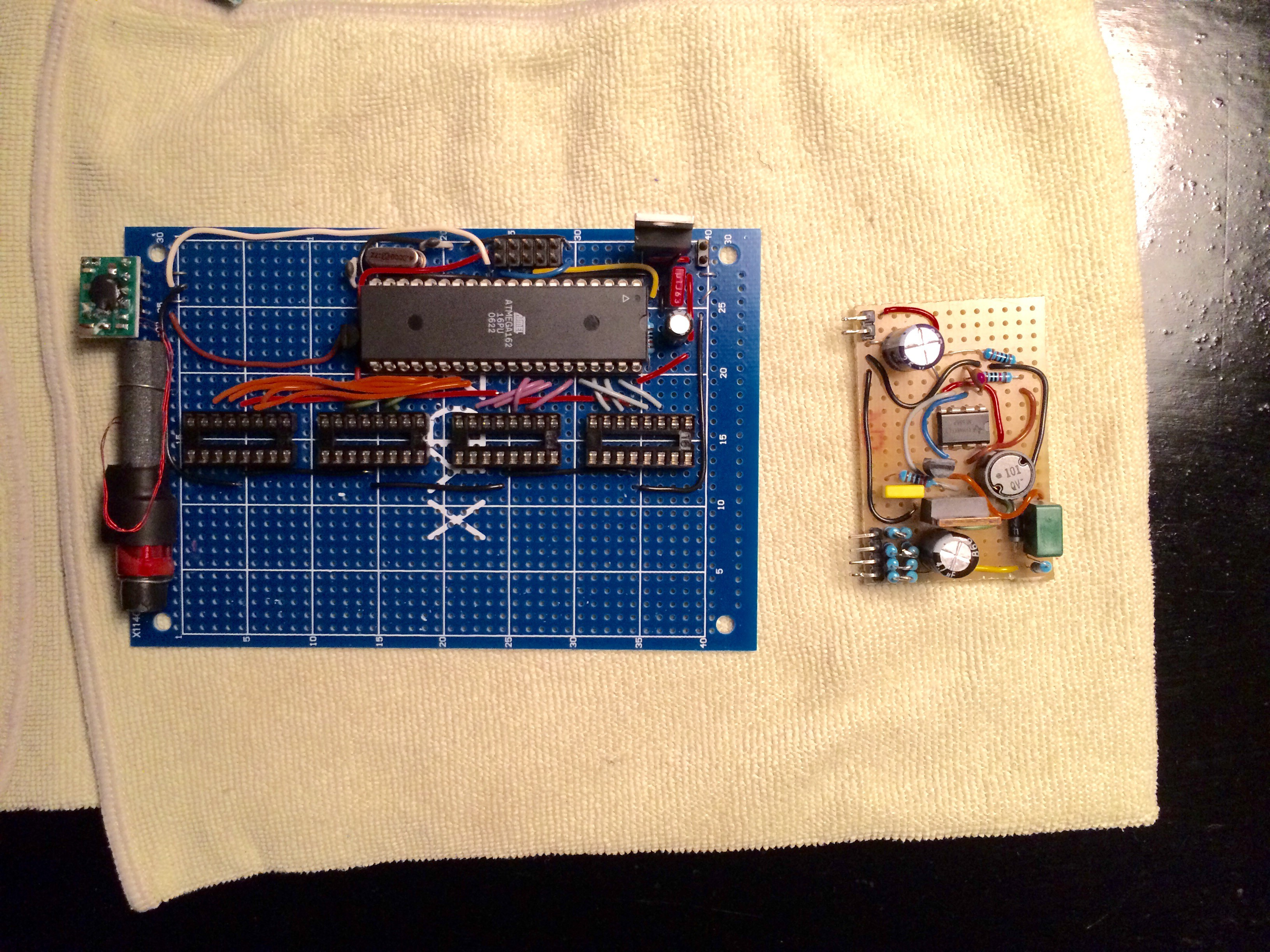 Project Gps Nixie Alarm Clock Gallery Breadboard Power Supply Diy Kit Buildcircuit The Dcf 77 Receiver I First Planned To Use For Time Sync On Left My Crude Hv Psu Right