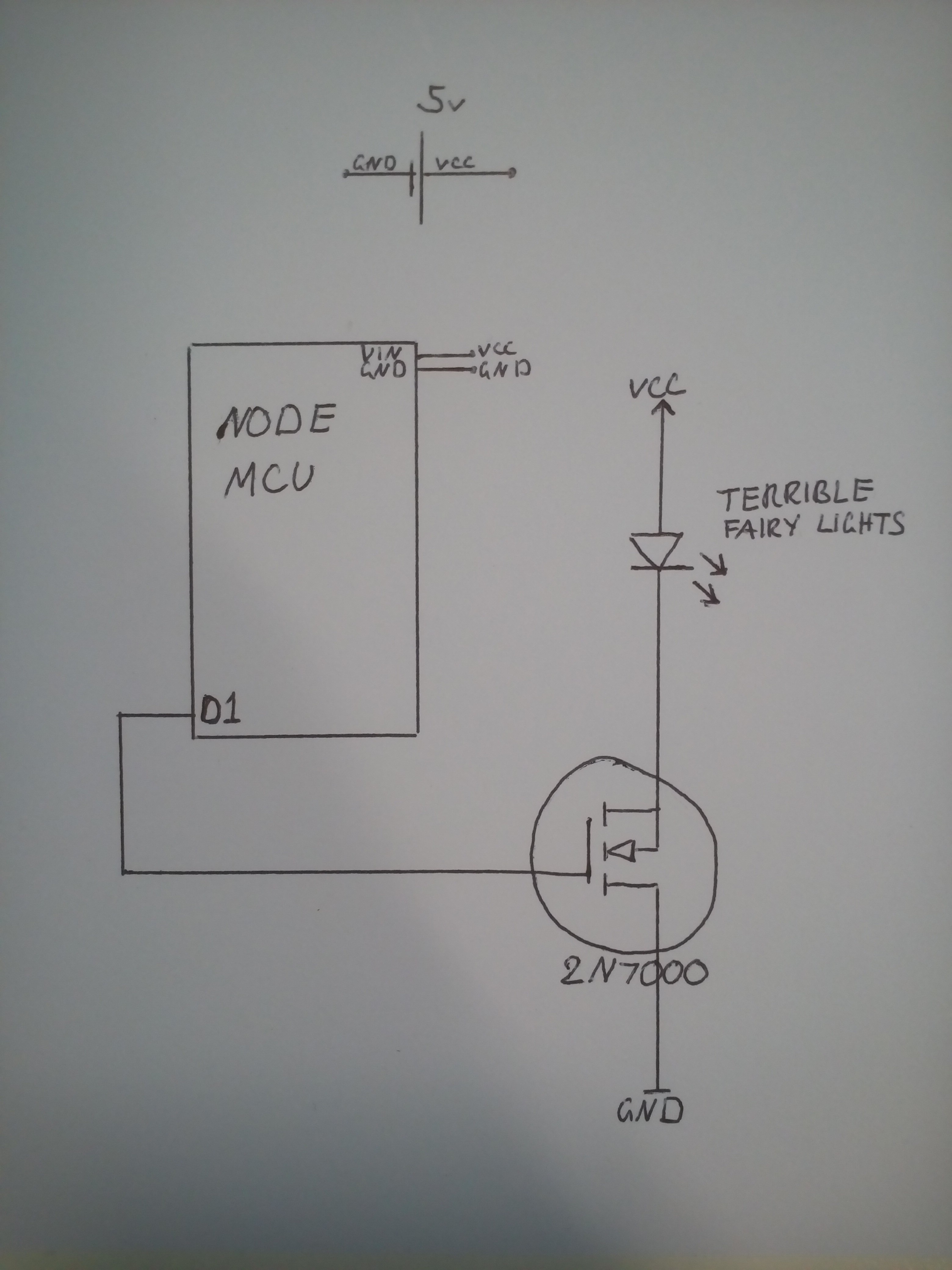 Wi Fi Christmas Lights Led String Light Wiring Diagram In Addition Heres A Hand Drawn Gloomy Circuit Schematic
