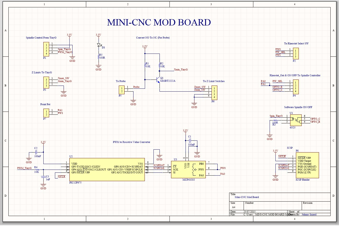 3040 Cnc Milling Machine Mods Harbor Freight Wiring Diagram Reversing Switch A Little Circuit To Make Probing Mimic Nc Some Parts Should Arrive This Week I Can Then Sure Its Working 100 Before Sending The Gerber