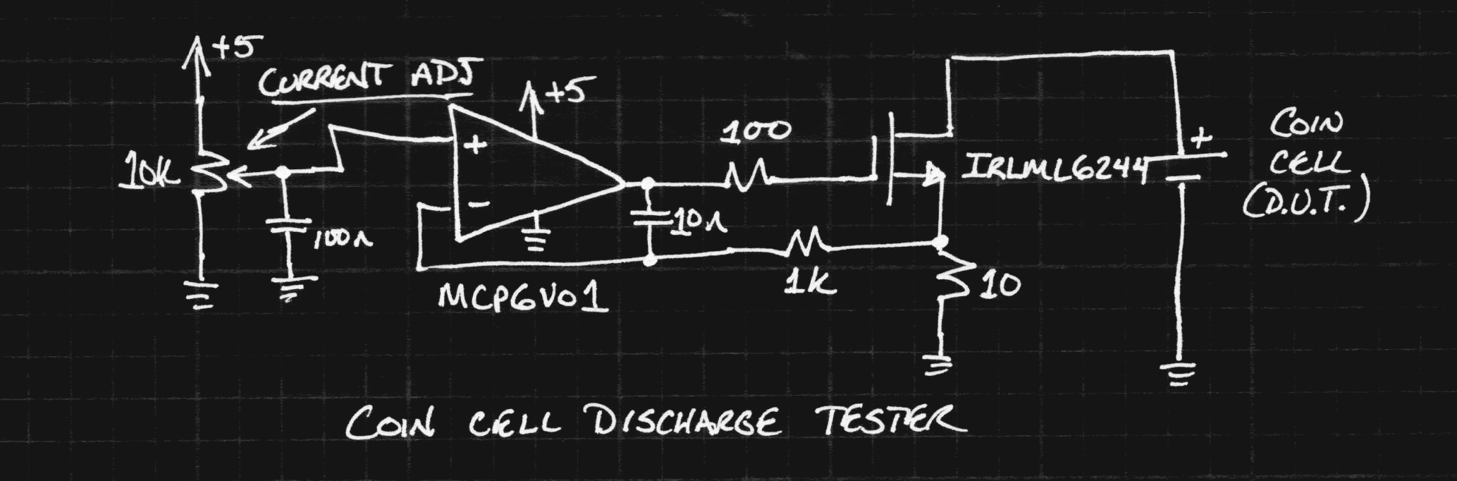 Coin Cell Discharge Tests Details Op Amp Voltage Offset Problem Electrical Engineering Stack The First Low I Found In Parts Bin Was An Mcp6v01 Chopper Its Overkill For This Application But Contributes A Ridiculously Small Error