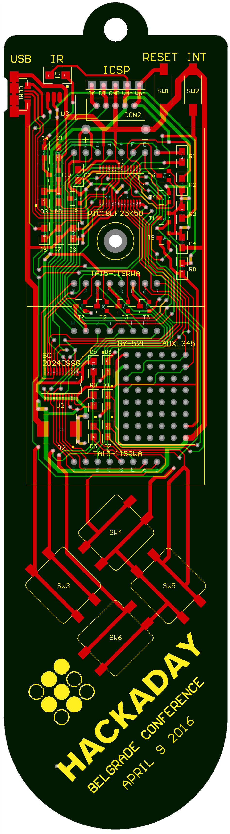 Badge For Hackaday Belgrade Conference Electronic Circuits 8085 Projects Blog Archive Timer Accelerometer Fun