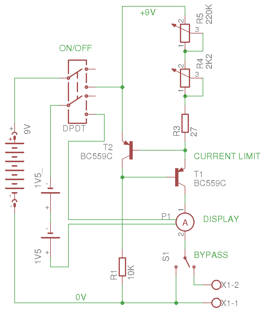 Precision Current Generator Falstadbestonlinecircuitsimulator A Single Switch Turns The And Ammeter On