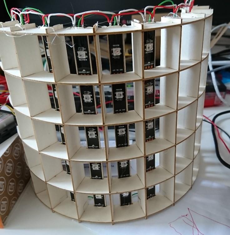 LED matrix cylinder   Hackaday io
