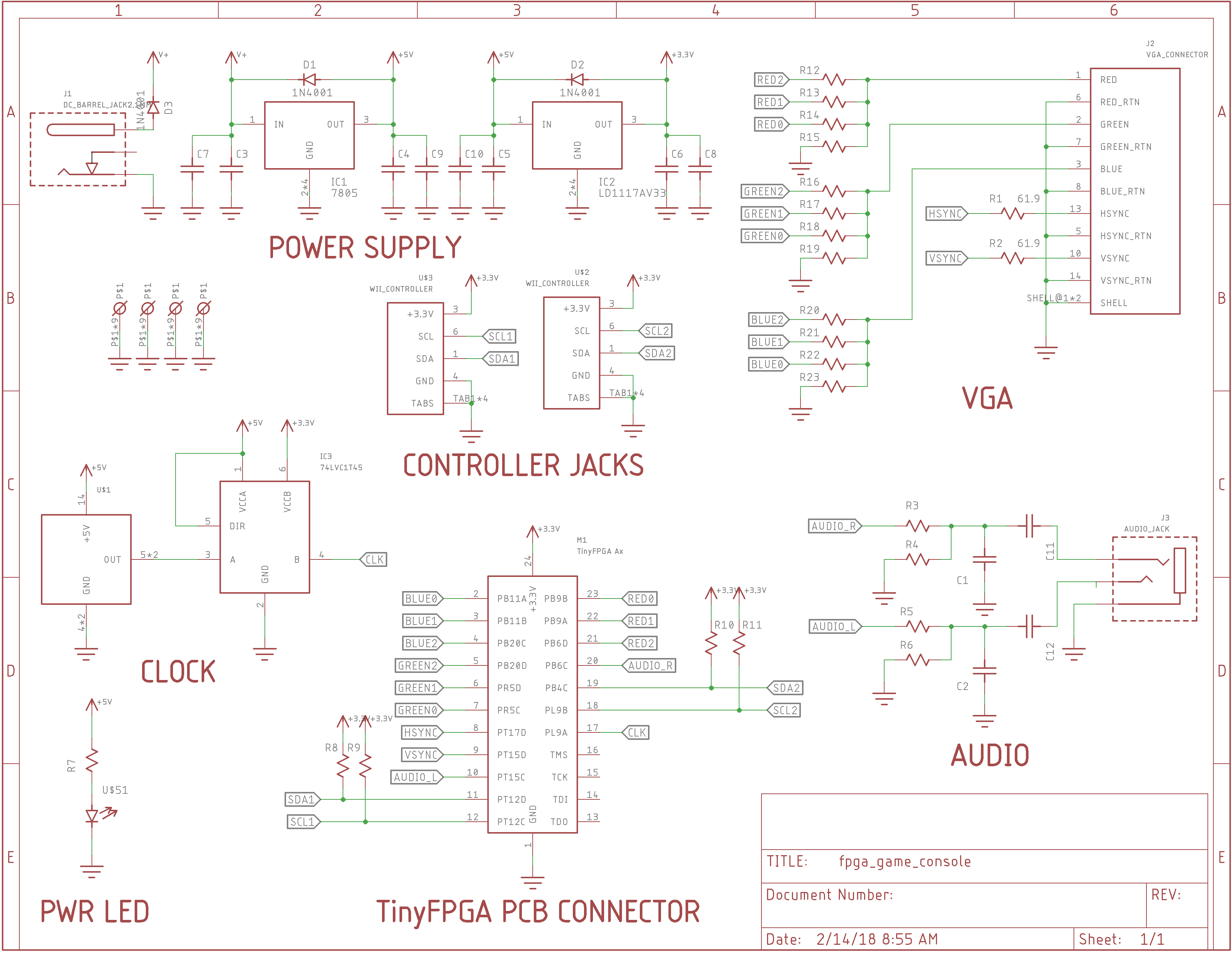 V1 Schematic Details Crystal Oscillator The Pcb Will Have A Socket To Accept Either An A1 Or A2 Tinyfpga Board There Are Sites On For 8 14 Pin Metal Can